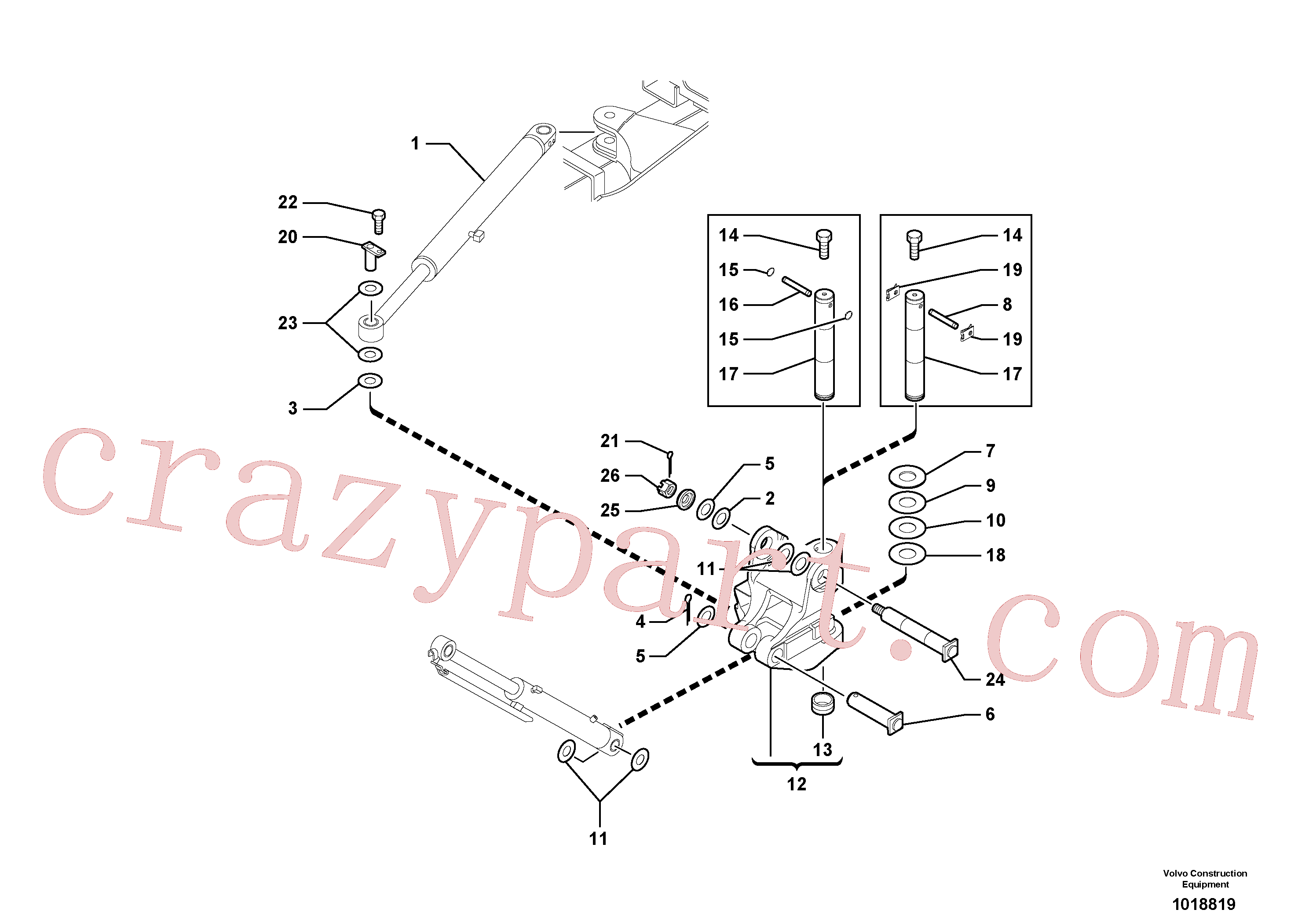 PJ4430003 for Volvo Pivot pin(1018819 assembly)