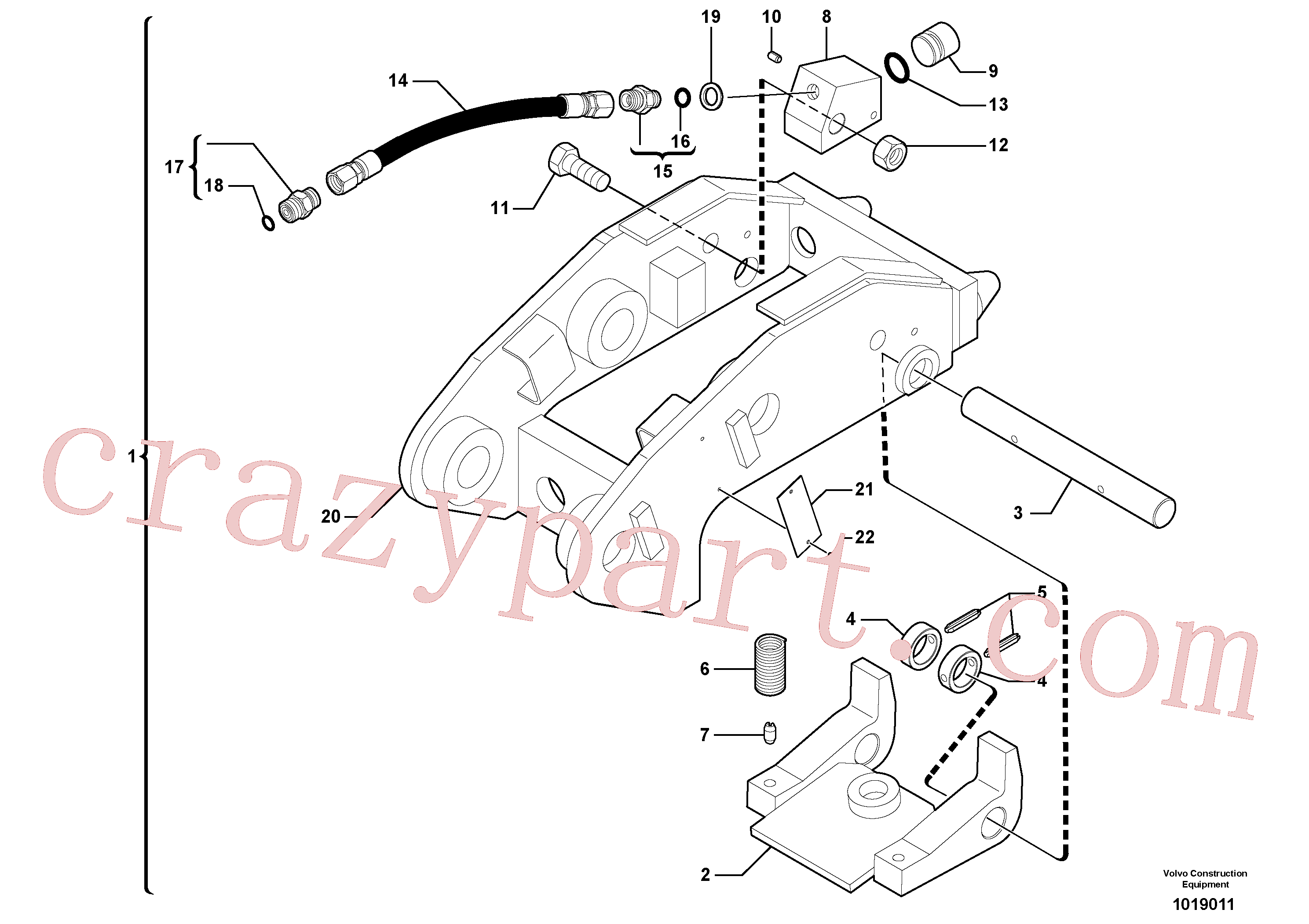 PJ4040248 for Volvo Tool holder / hydraulic control(1019011 assembly)