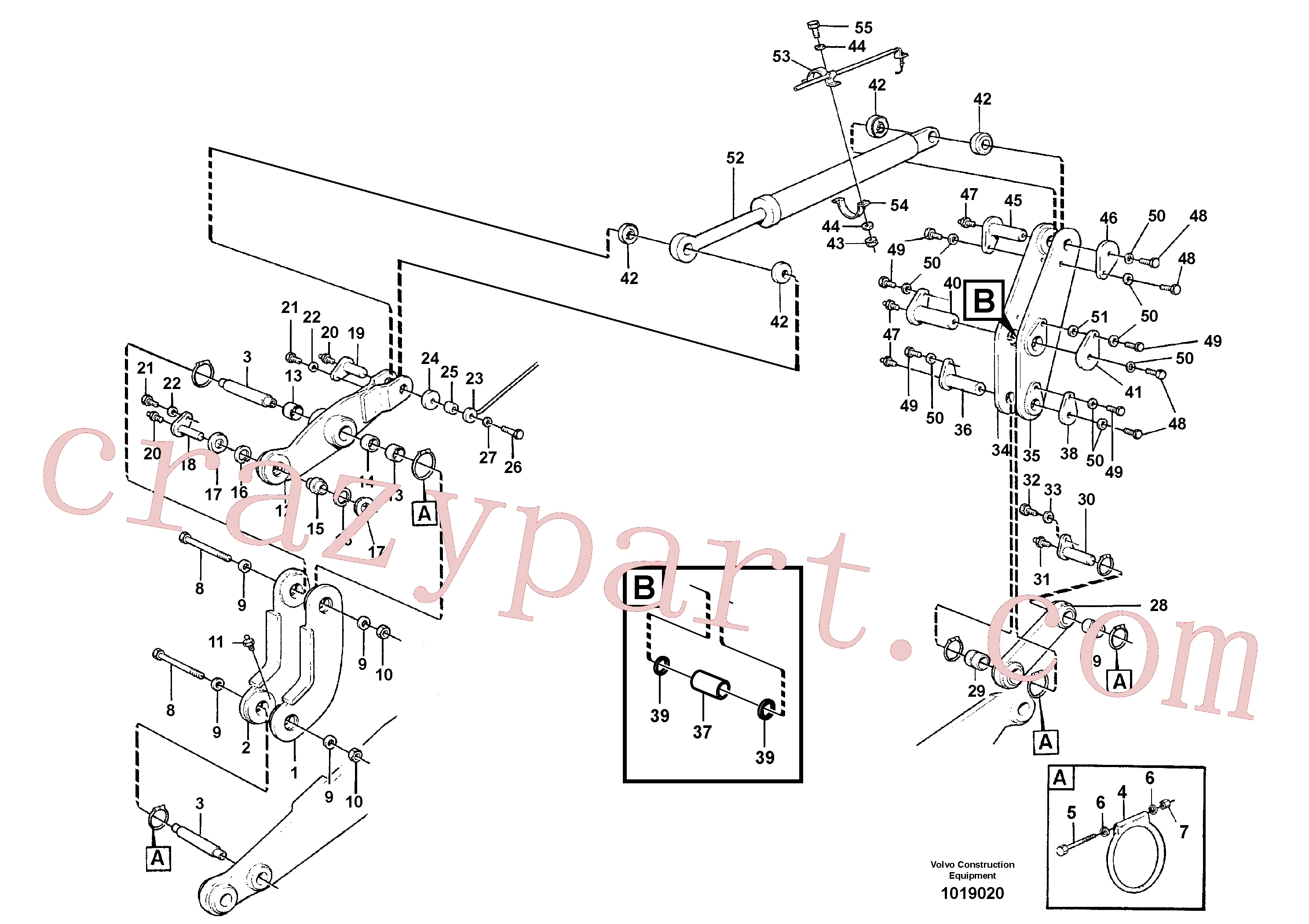 VOE4782563 for Volvo Links with fitting parts(1019020 assembly)