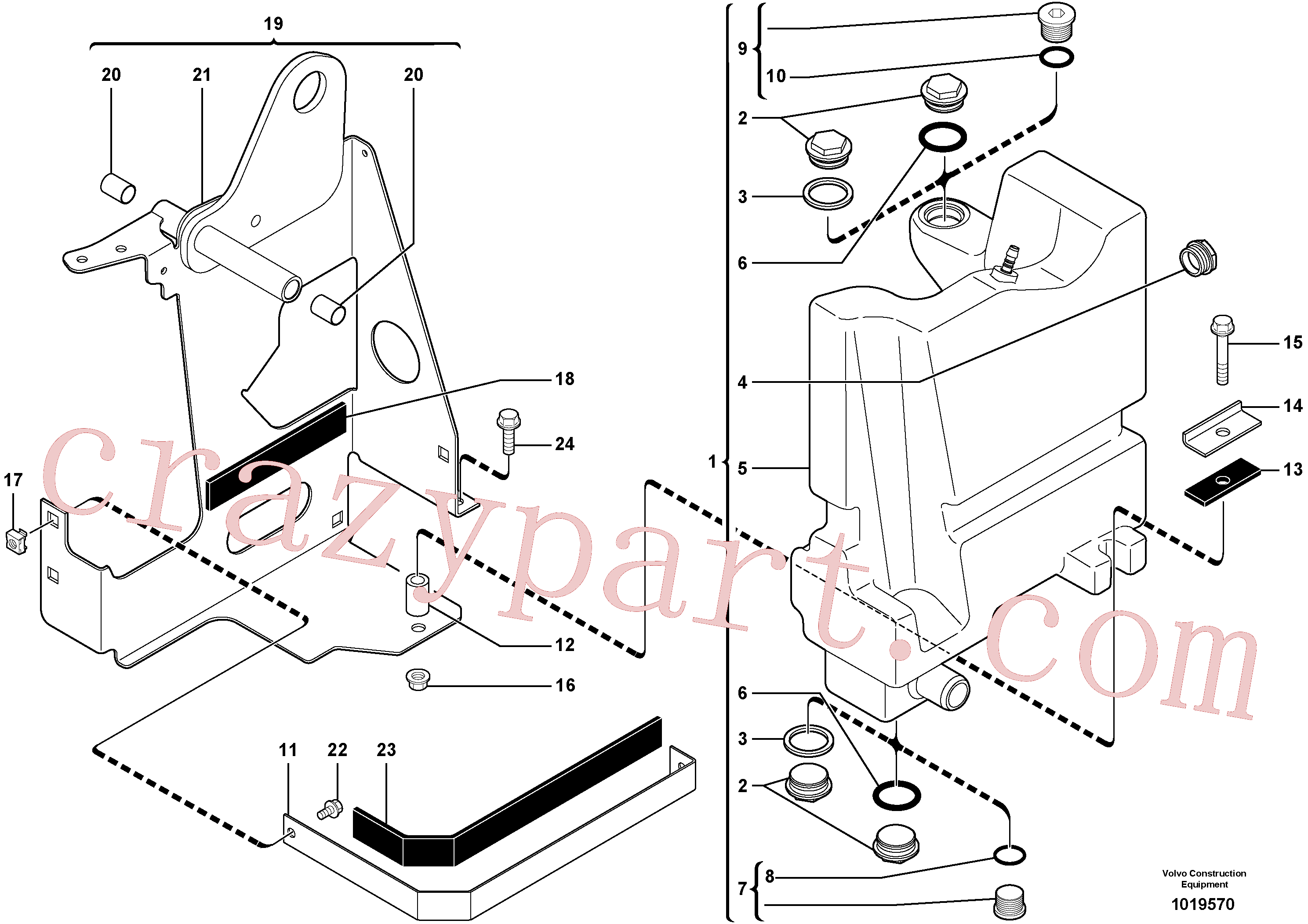 VOE11806158 for Volvo Hydraulic tank(1019570 assembly)