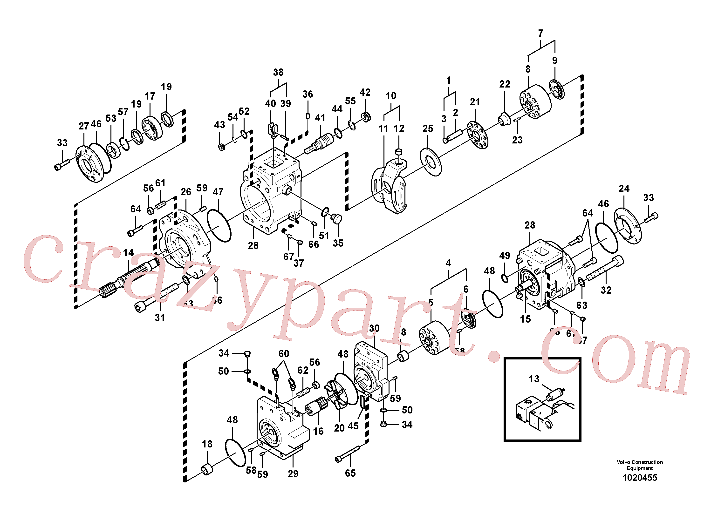 VOE14535187 for Volvo Hydraulic pump(1020455 assembly)