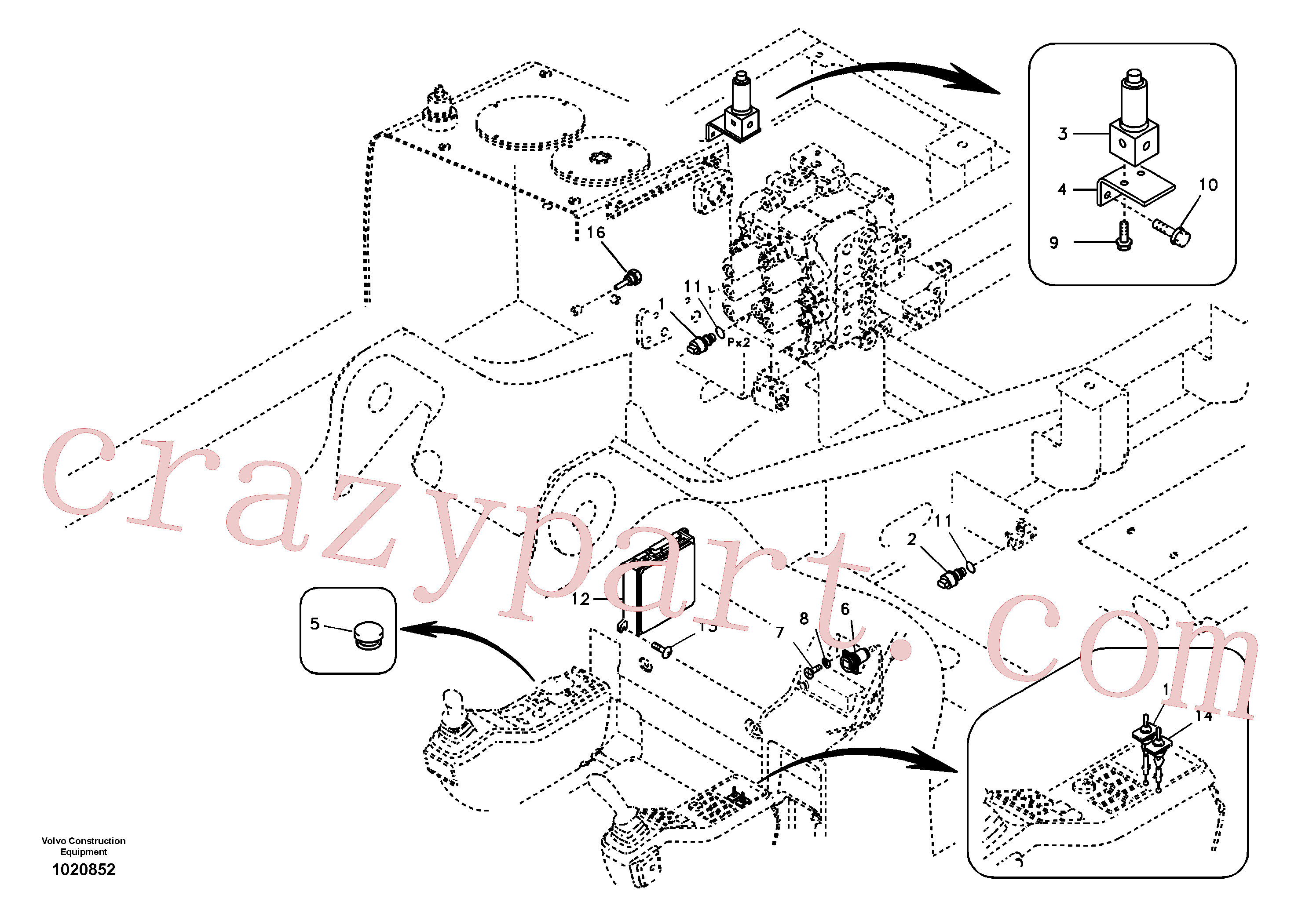 SA1127-31020 for Volvo Electronic unit(1020852 assembly)