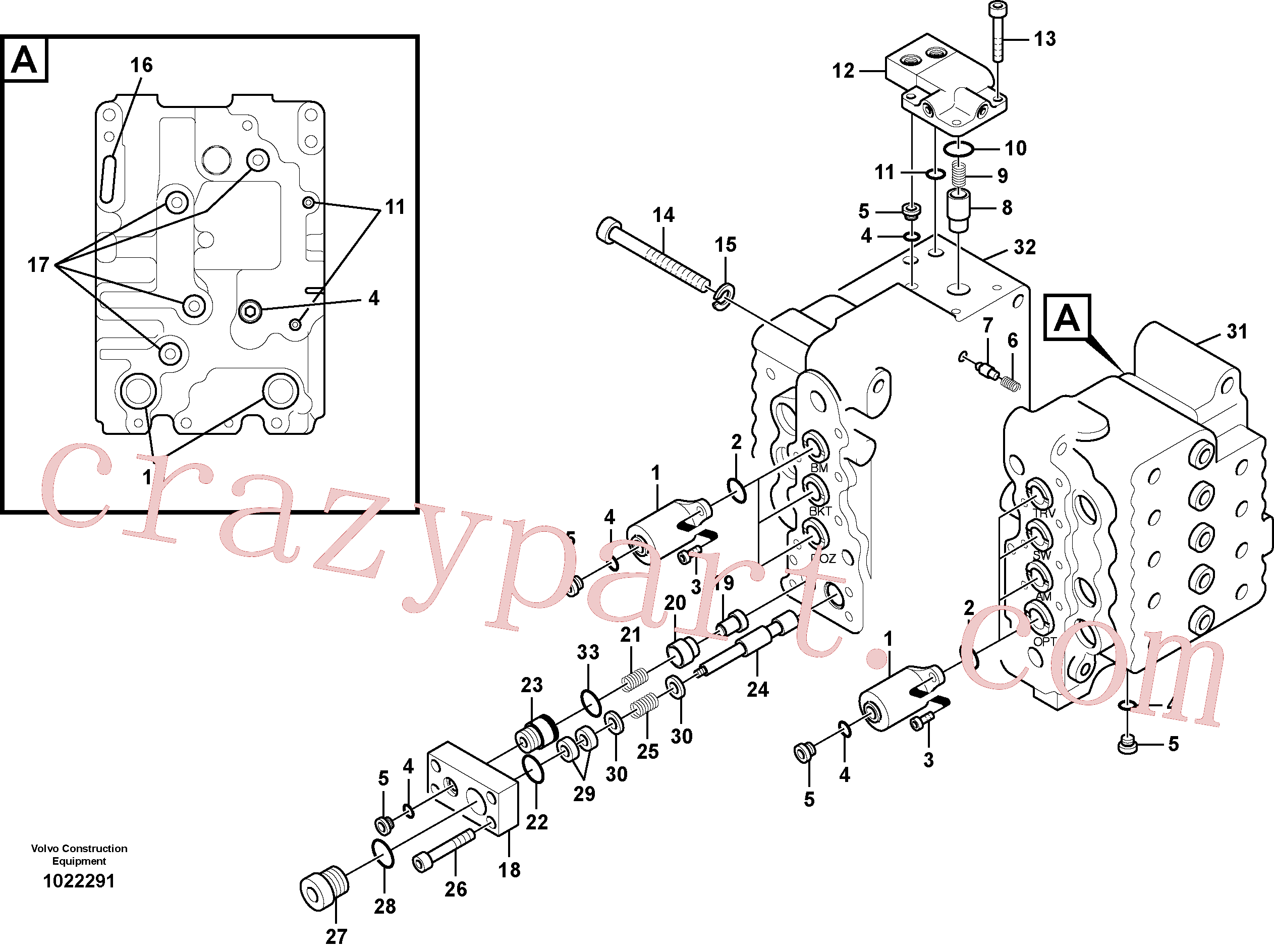 SA8230-10830 for Volvo Main control valve, relief valve and boom holding(1022291 assembly)