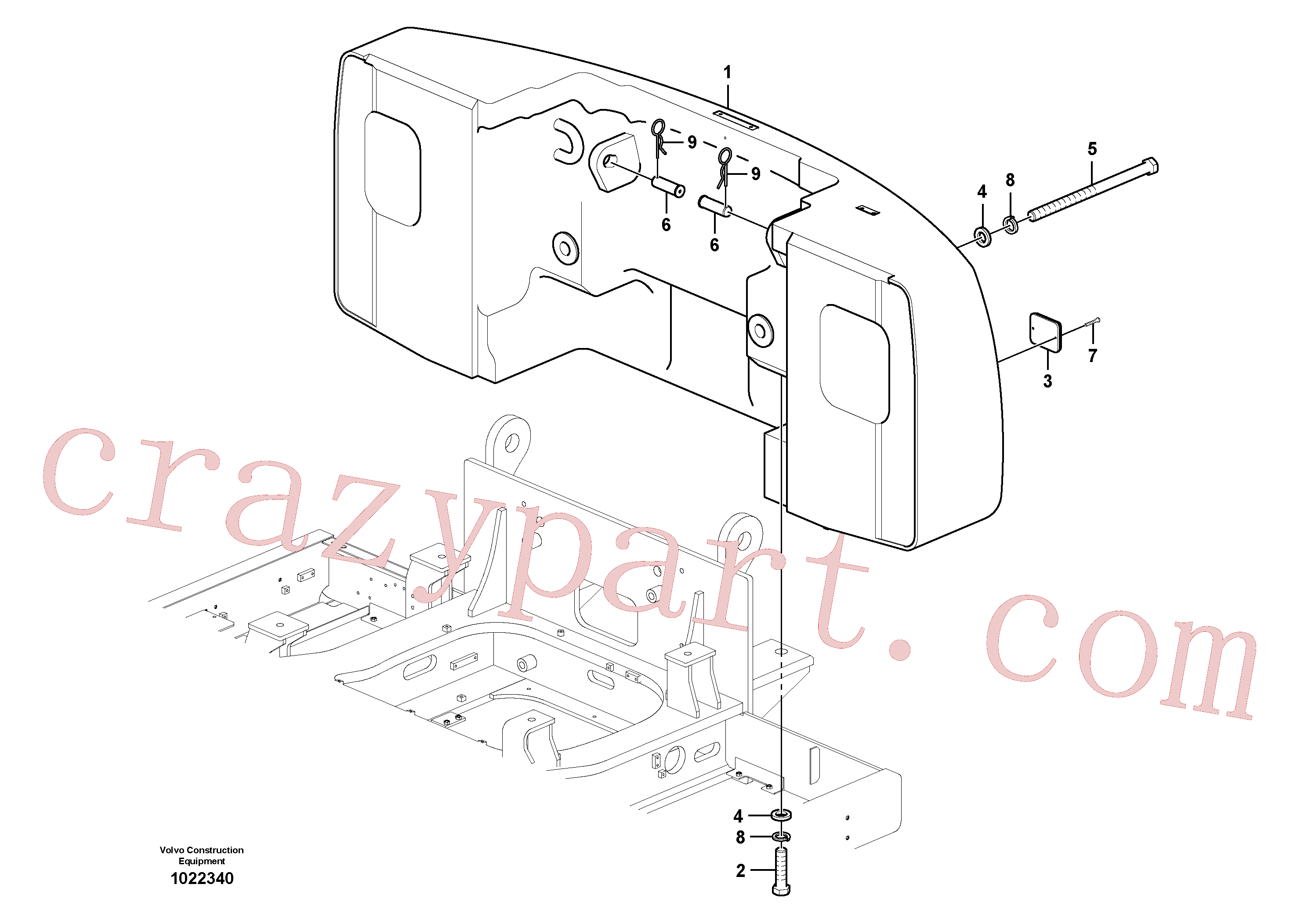 SA9326-26000 for Volvo Counterweights, Removal(1022340 assembly)