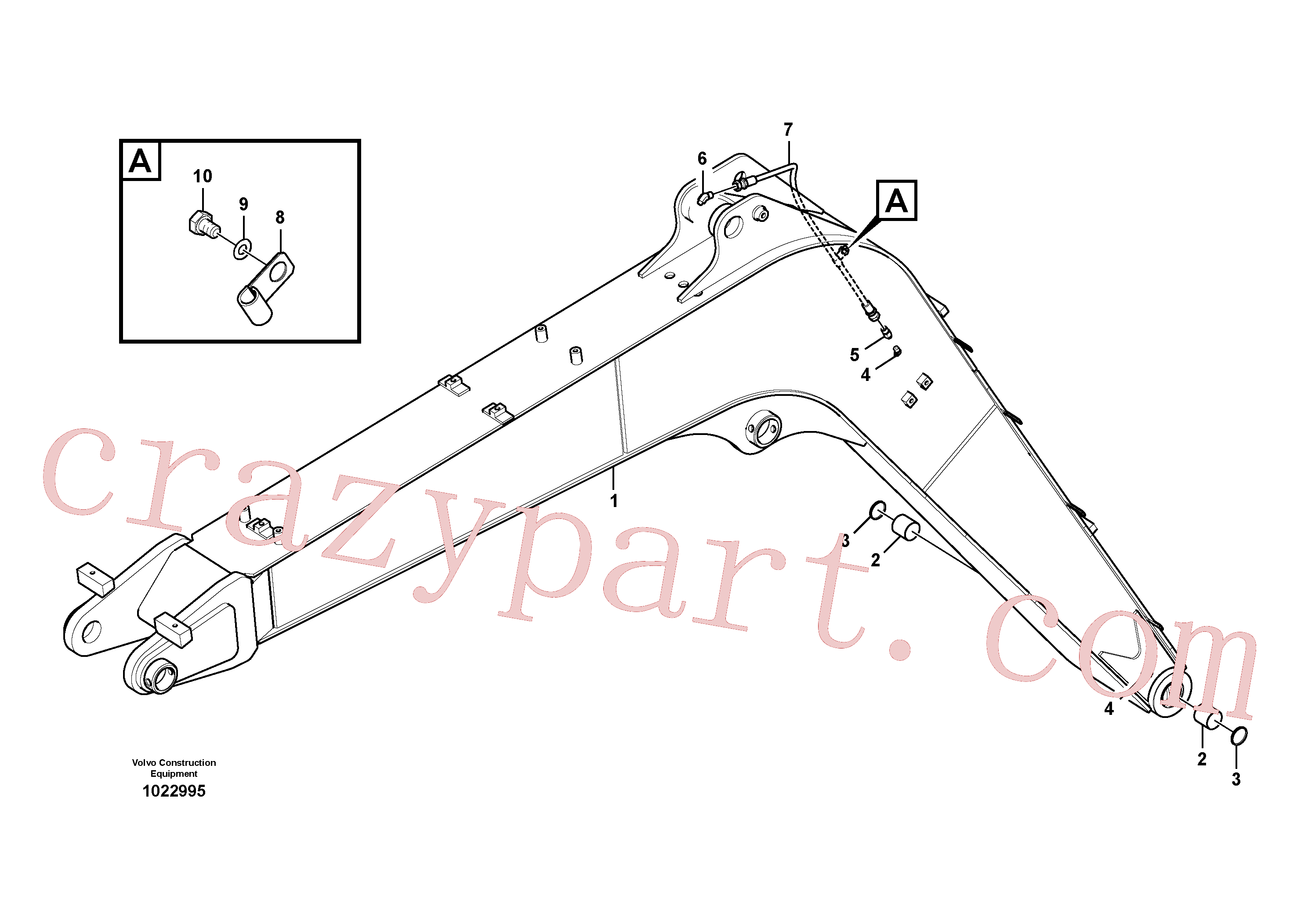 VOE14660089 for Volvo Boom and grease piping(1022995 assembly)