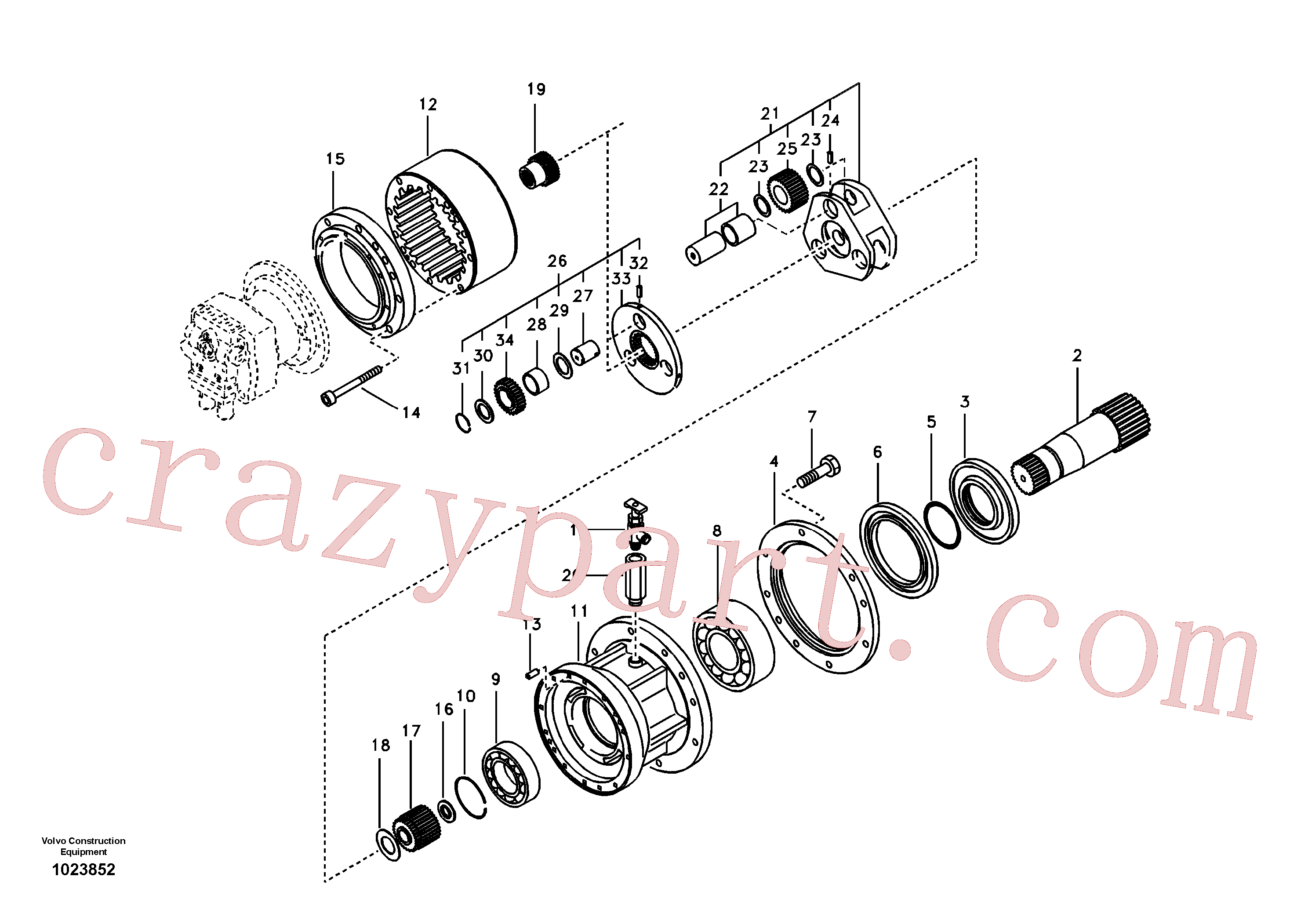 SA7118-30370 for Volvo Swing gearbox(1023852 assembly)