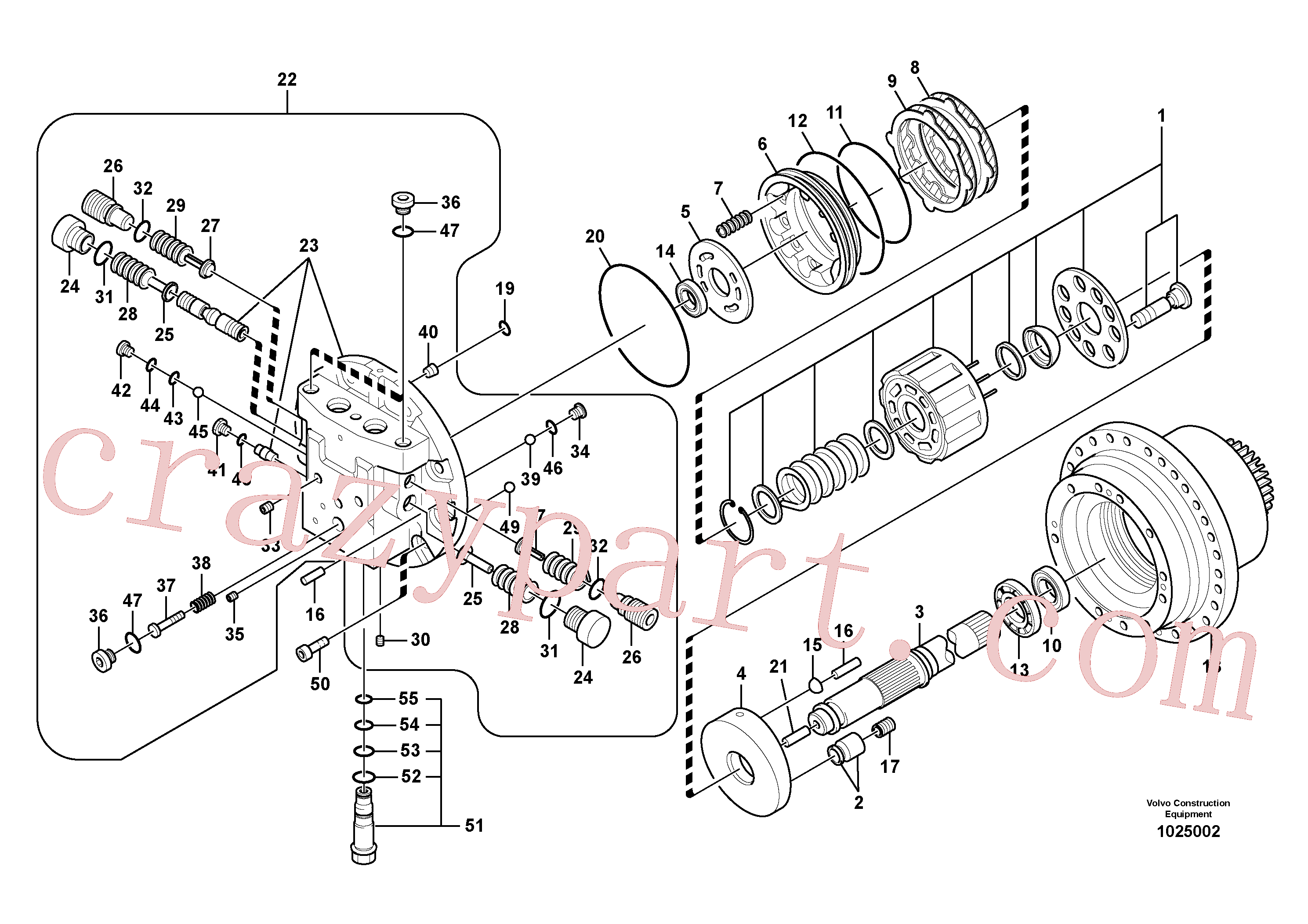 SA8230-08630 for Volvo Travel motor(1025002 assembly)