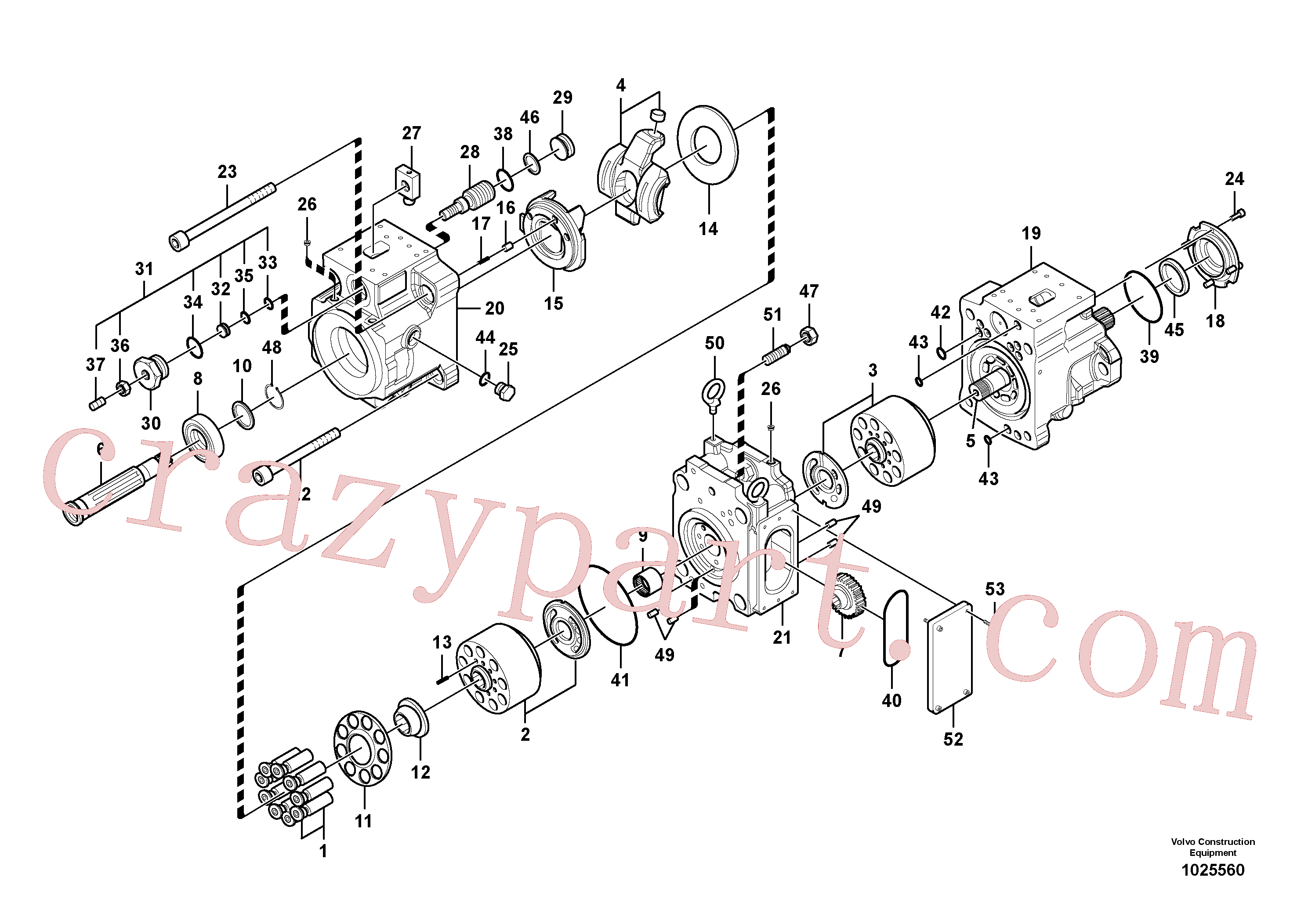 VOE14567617 for Volvo Hydraulic pump(1025560 assembly)