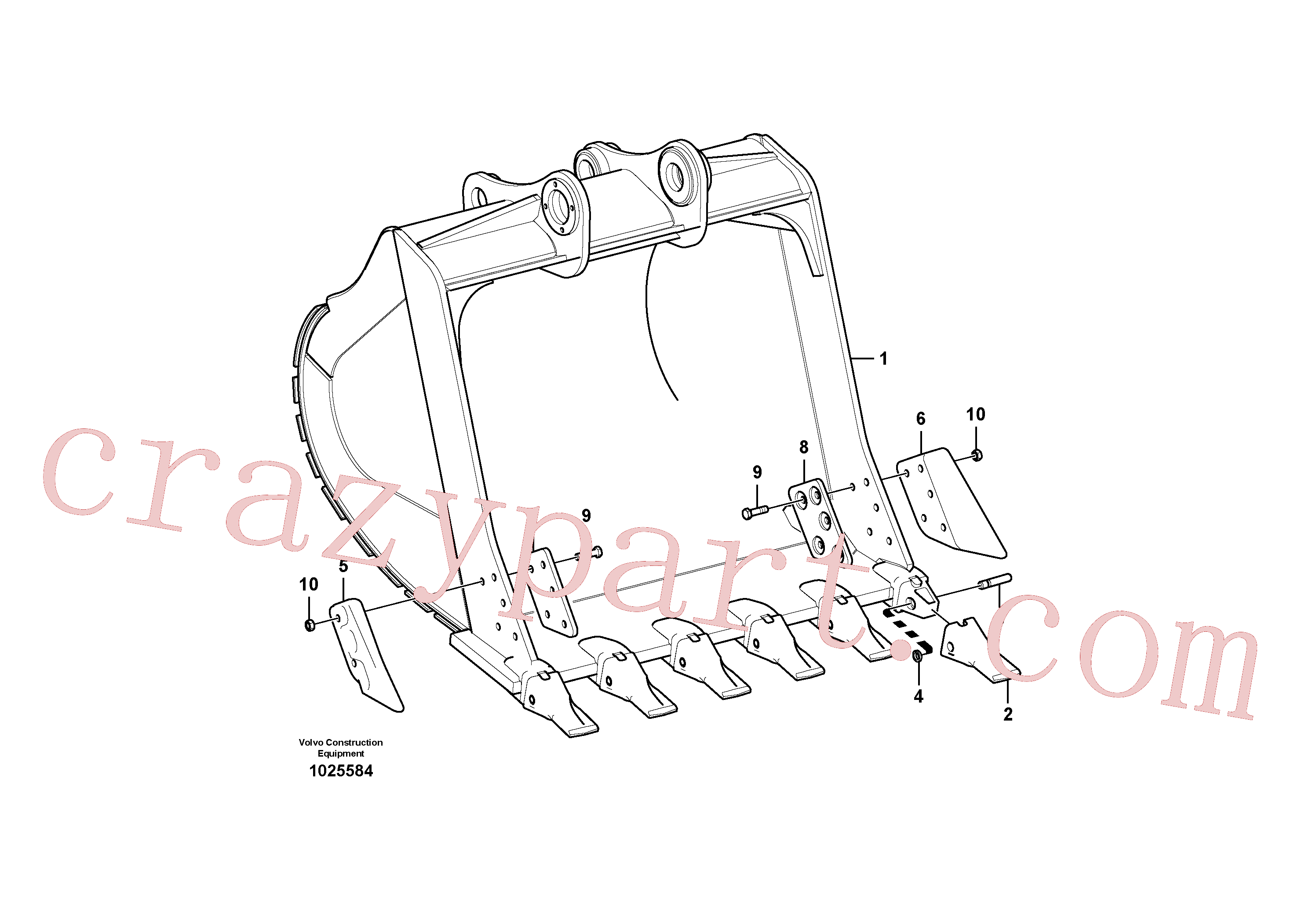 VOE14550968 for Volvo Bucket(1025584 assembly)