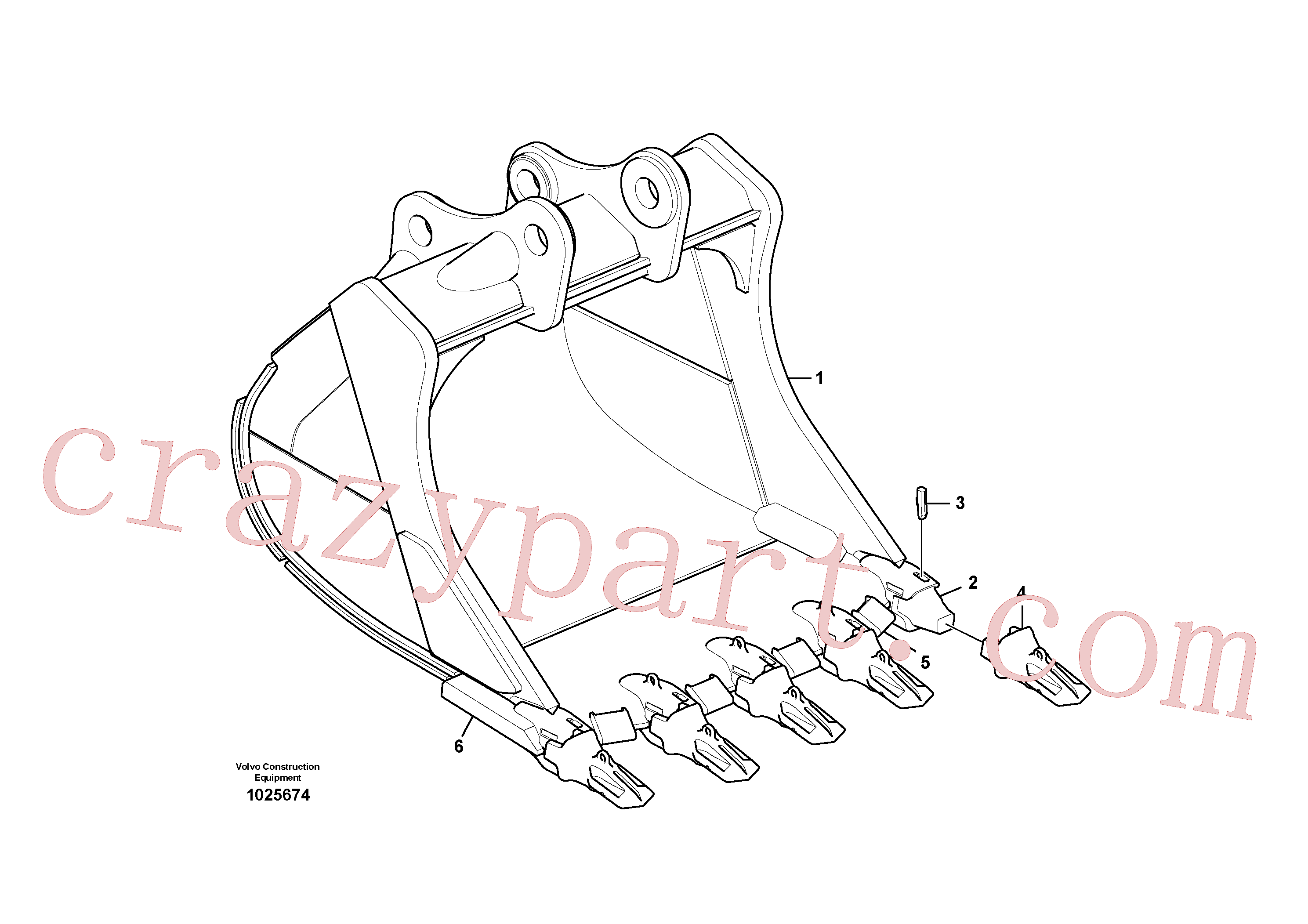 VOE14543836 for Volvo Bucket(1025674 assembly)