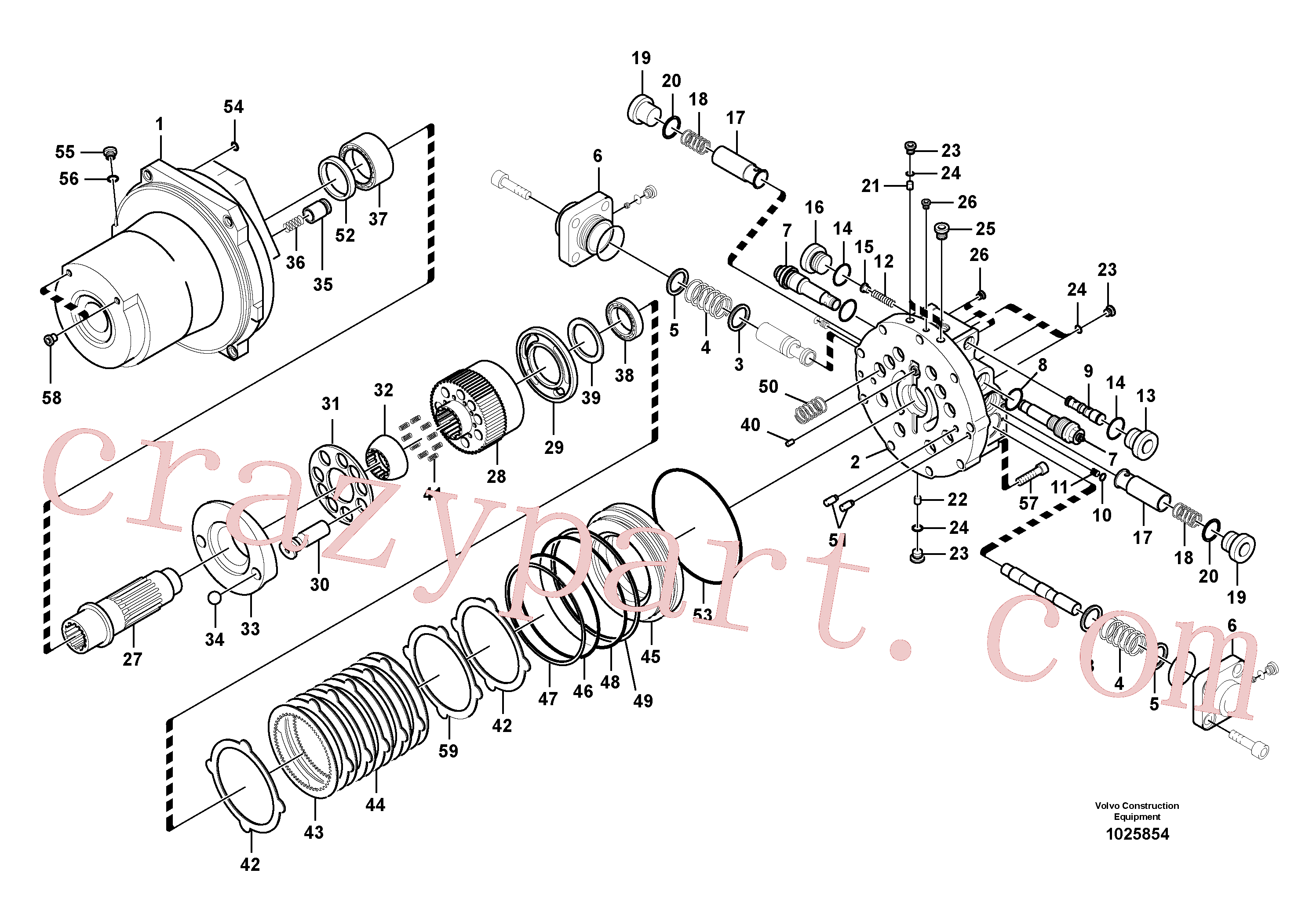 SA8230-32690 for Volvo Travel motor(1025854 assembly)