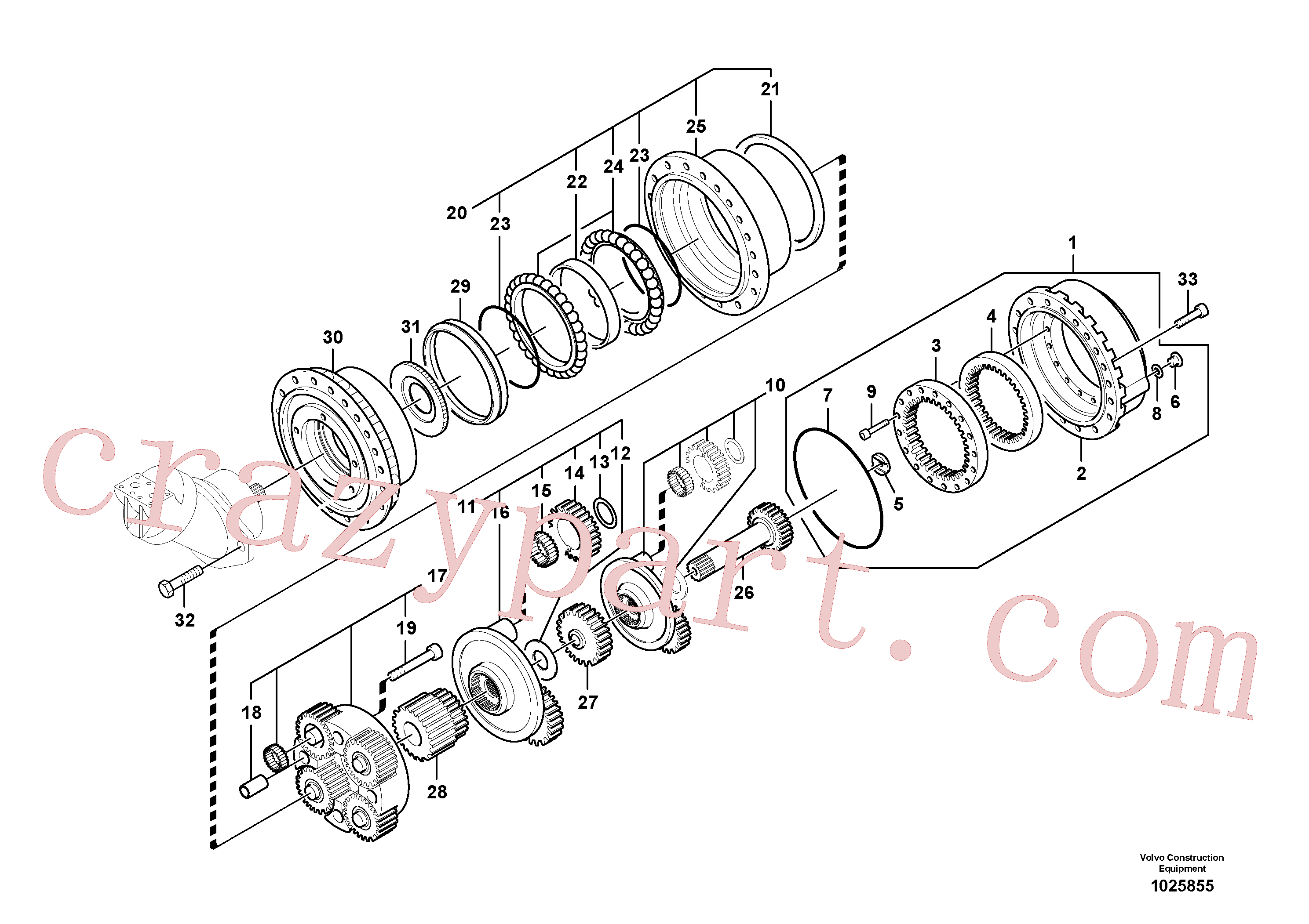 SA8230-22080 for Volvo Travel gearbox(1025855 assembly)