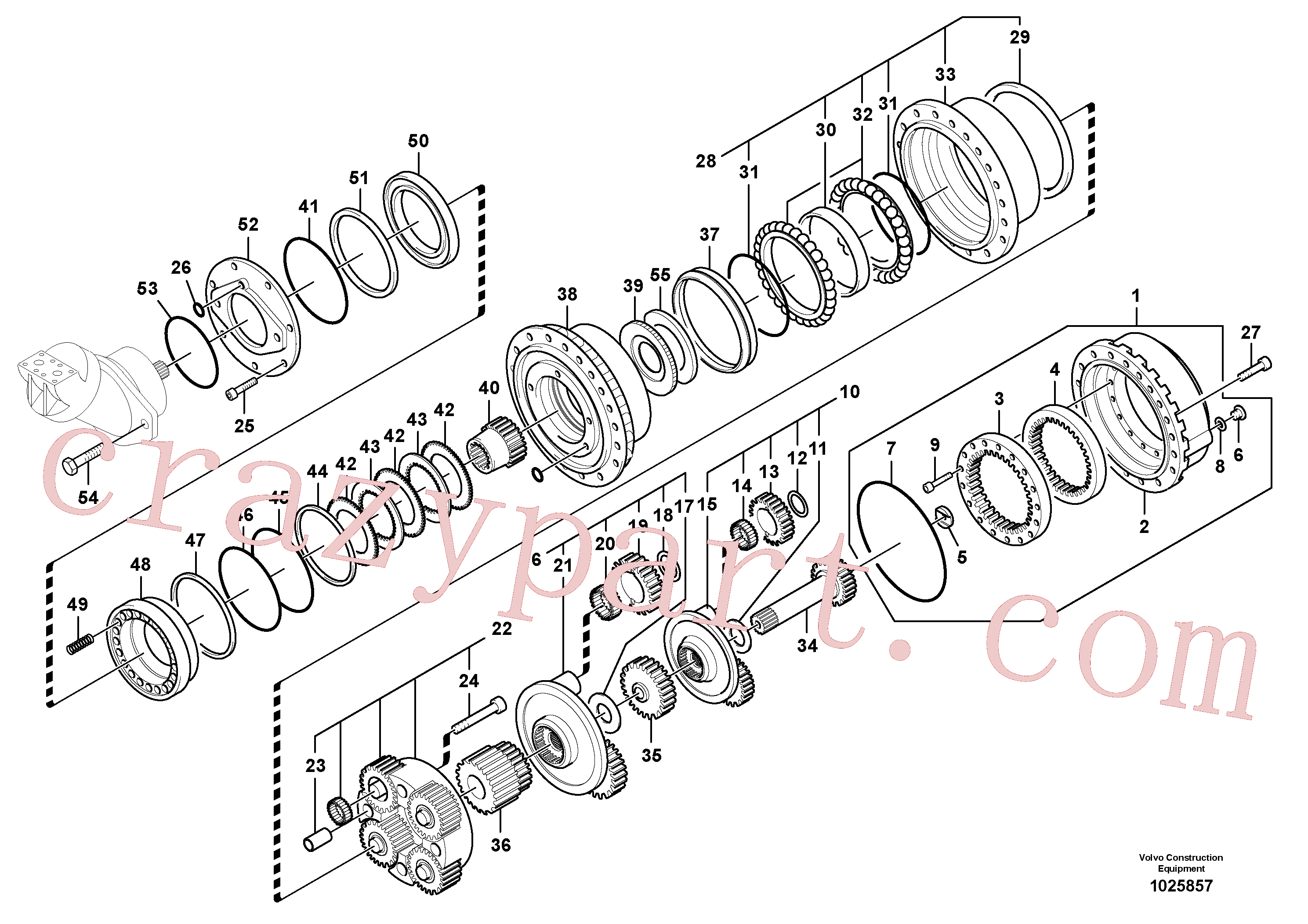 SA8230-22080 for Volvo Travel gearbox(1025857 assembly)