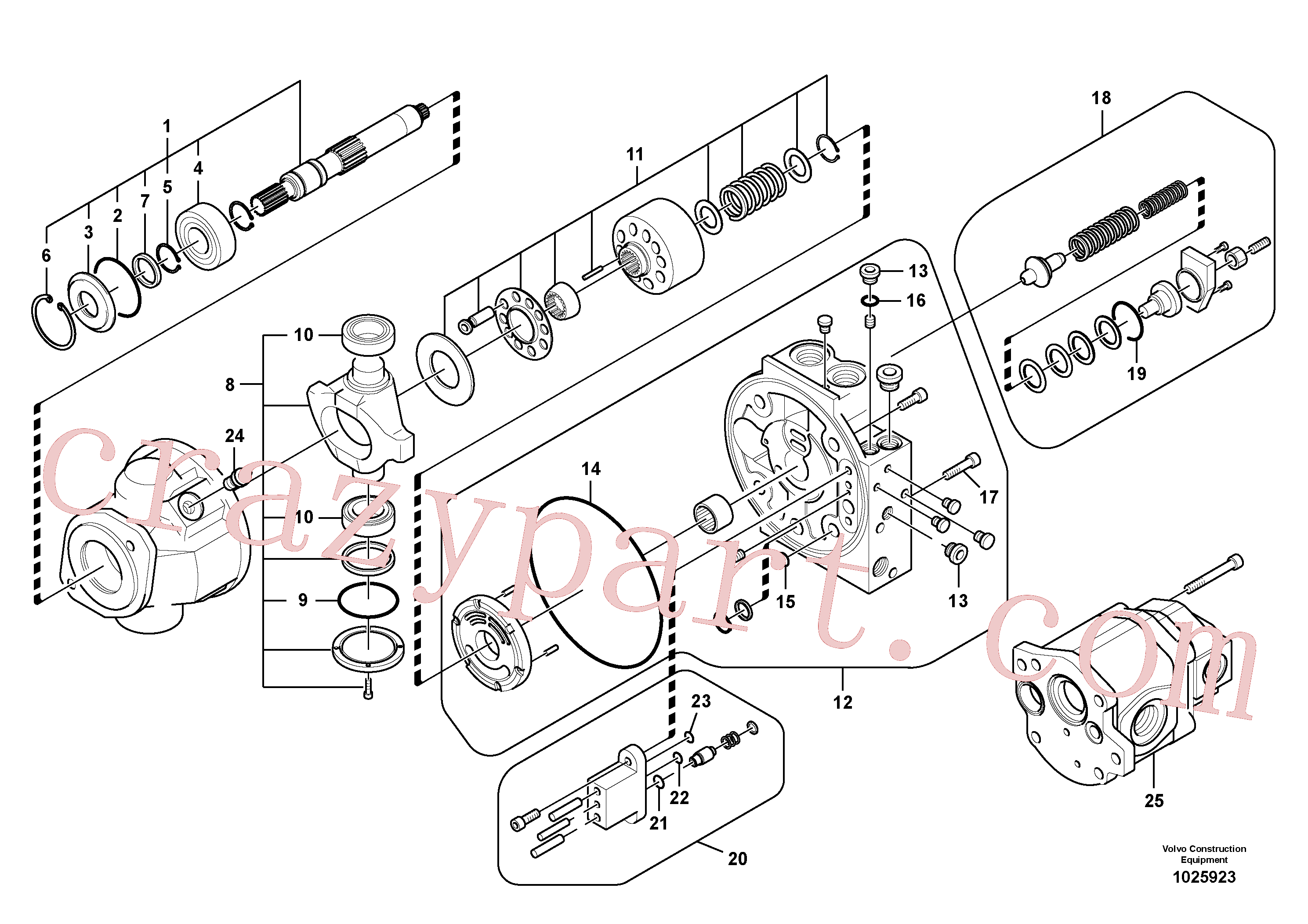 VOE14692347 for Volvo Hydraulic pump(1025923 assembly)