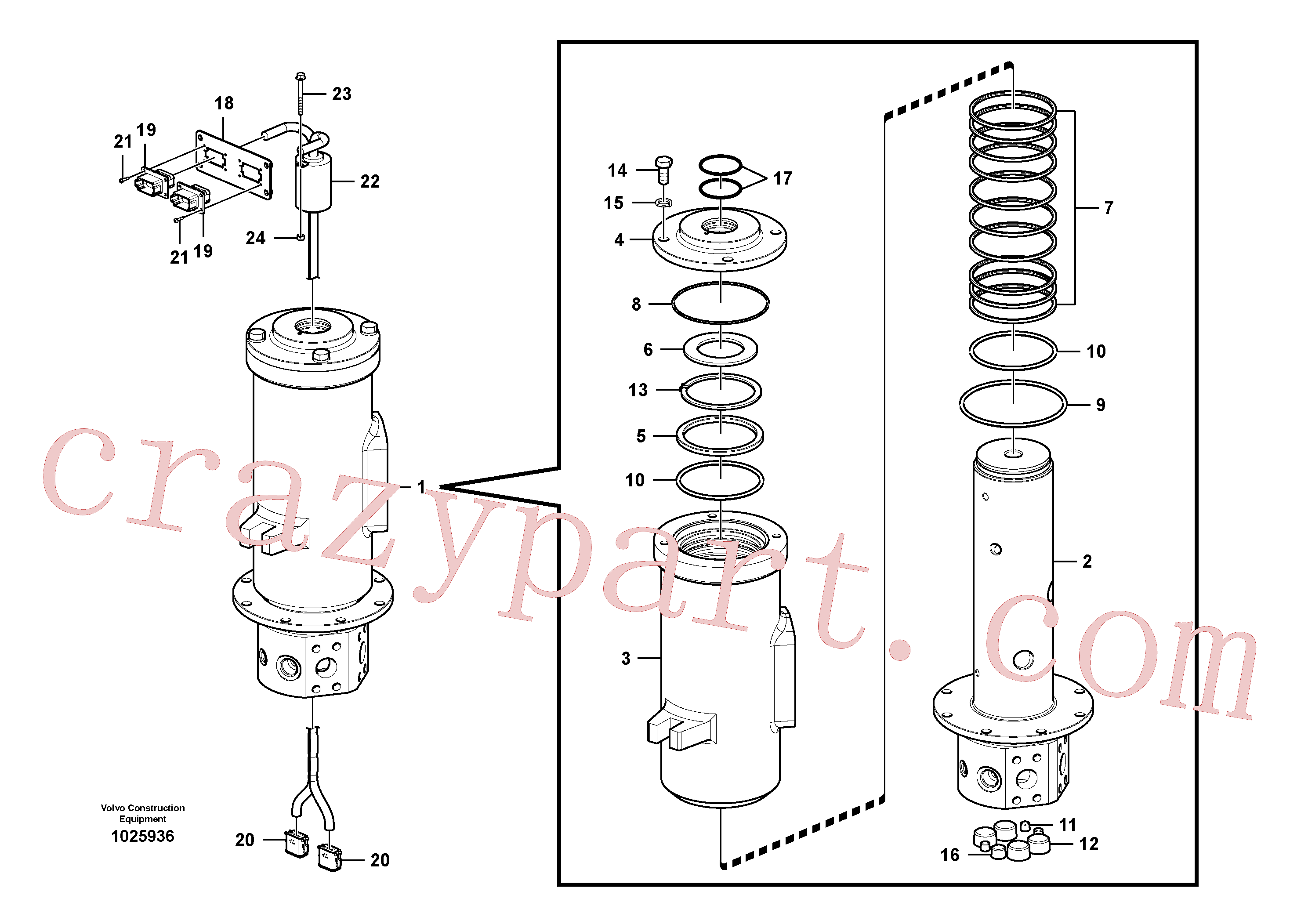 VOE13960246 for Volvo Turning joint(1025936 assembly)