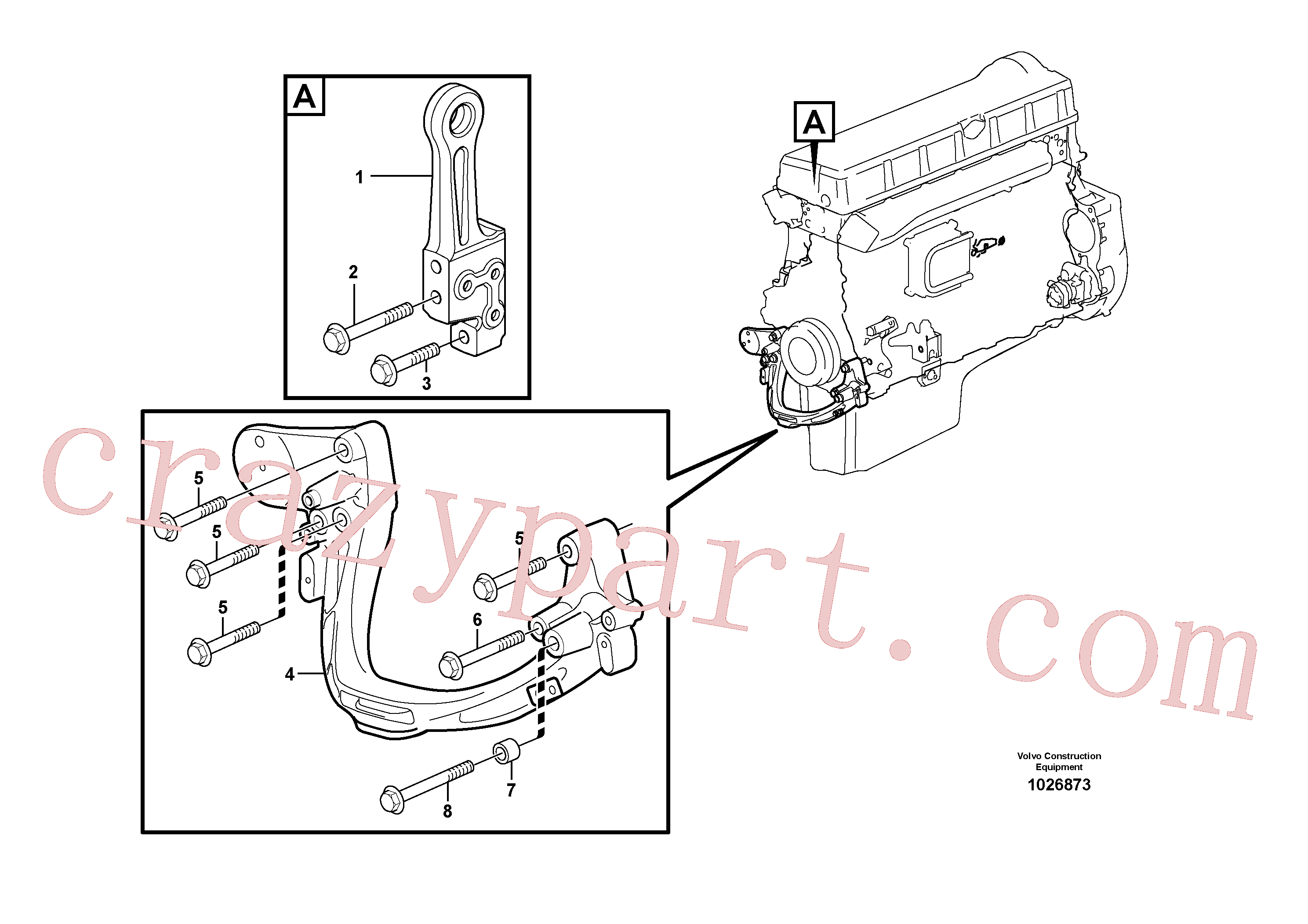 VOE975130 for Volvo Engine mounting(1026873 assembly)