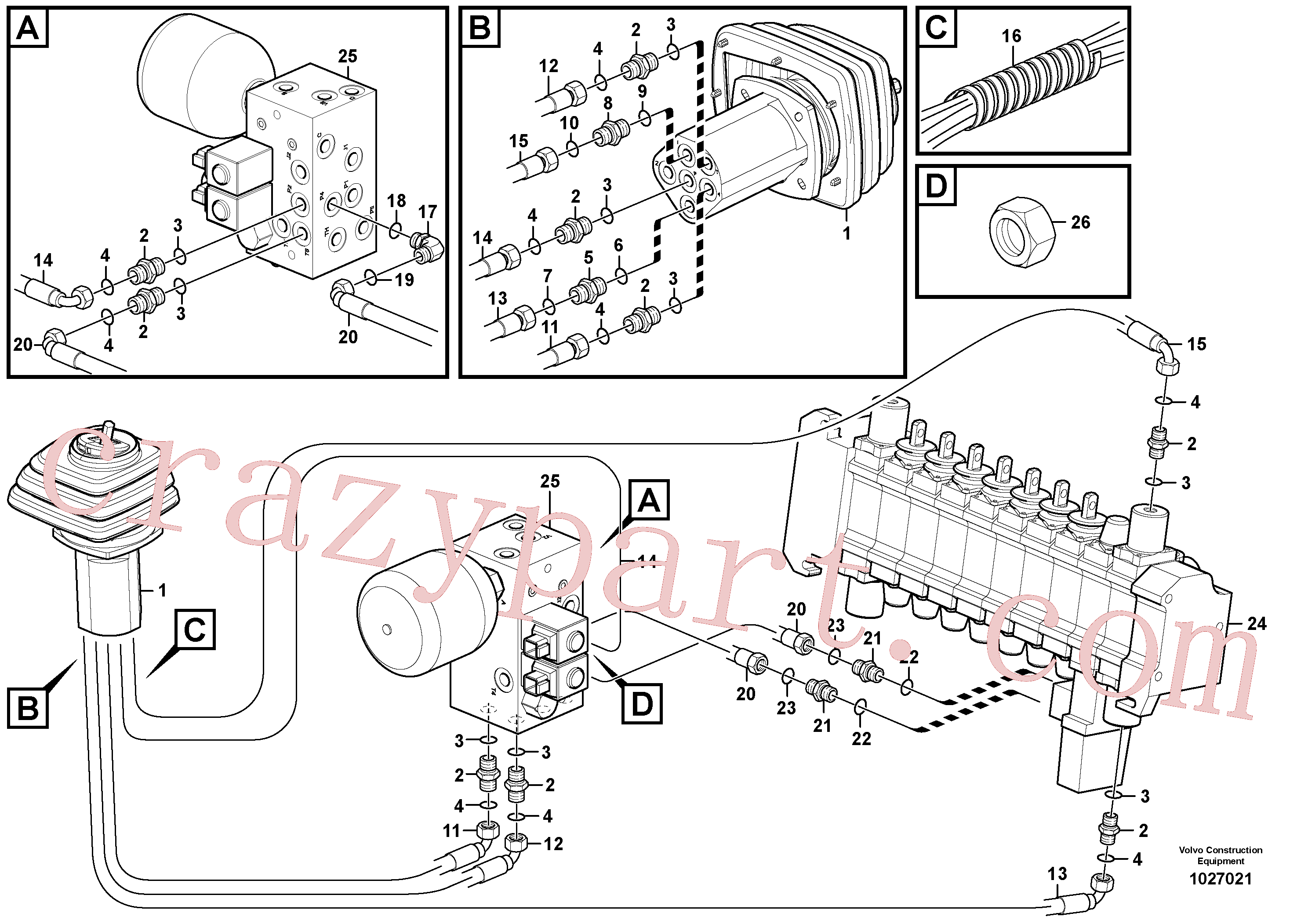 PJ5600200 for Volvo SE- Loader controls with safety accumulator(1027021 assembly)