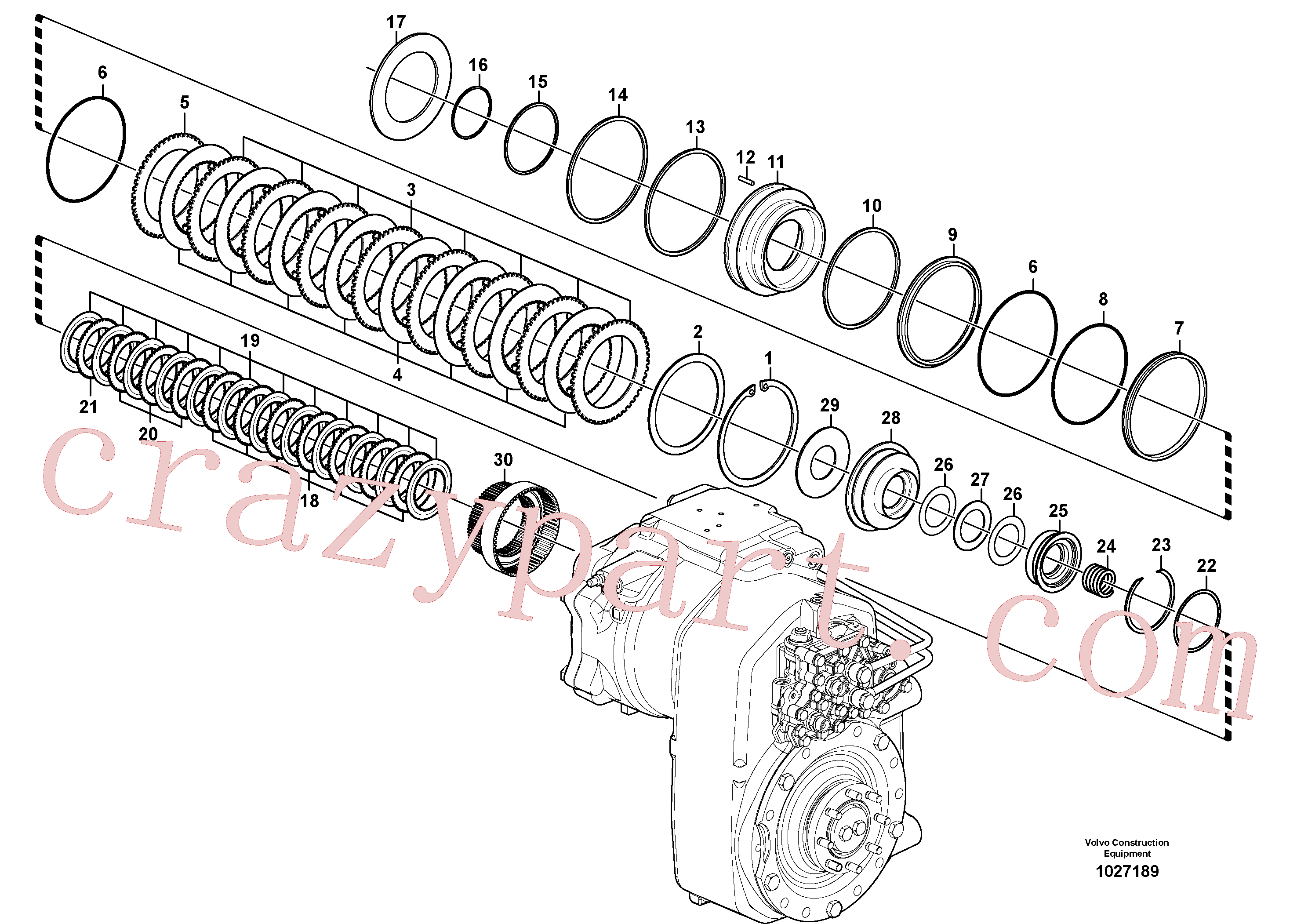 SA8220-11910 for Volvo Transfer case, hydraulic coupling(1027189 assembly)