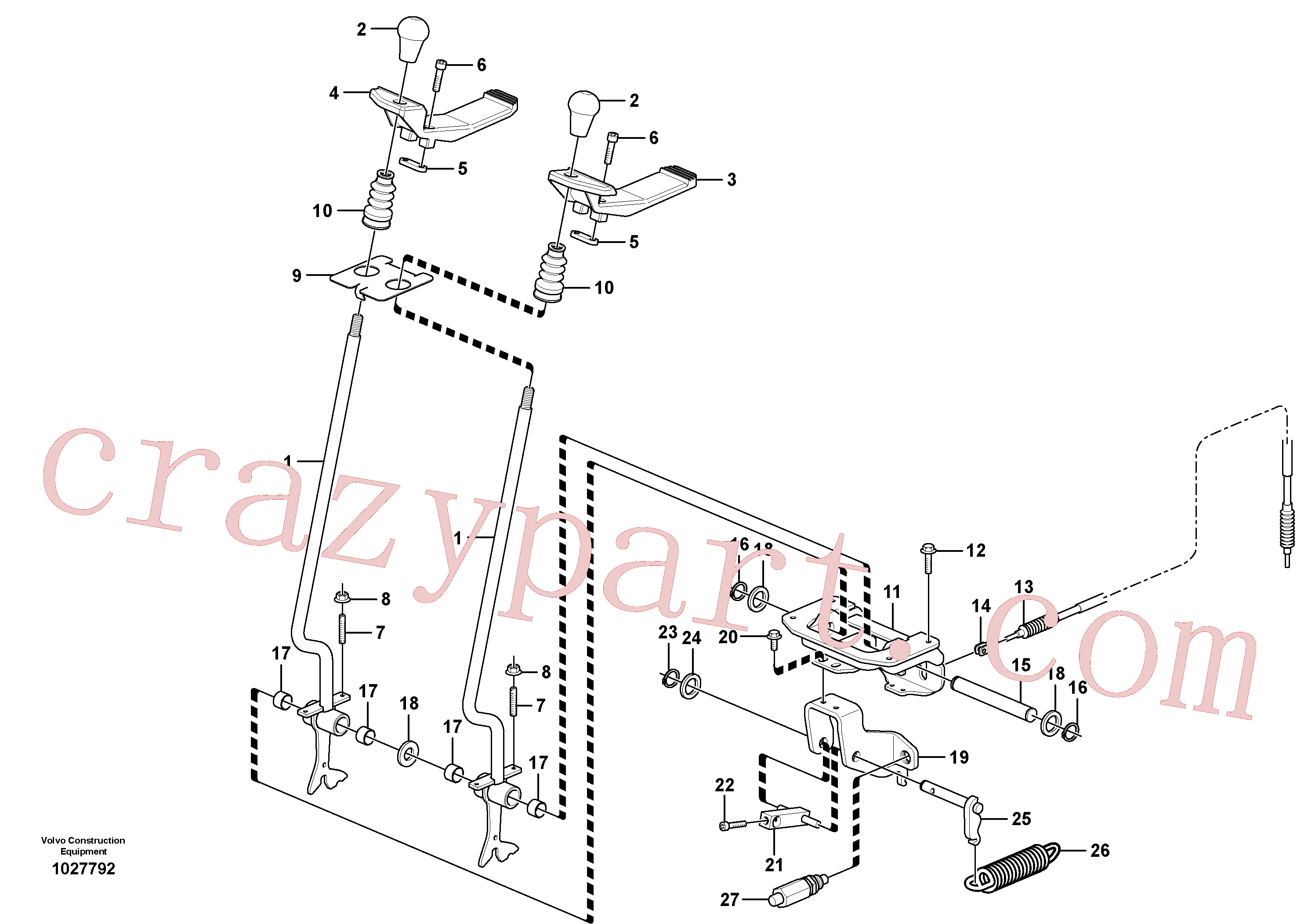 VOE14518918 for Volvo Control levers : travelling(1027792 assembly)