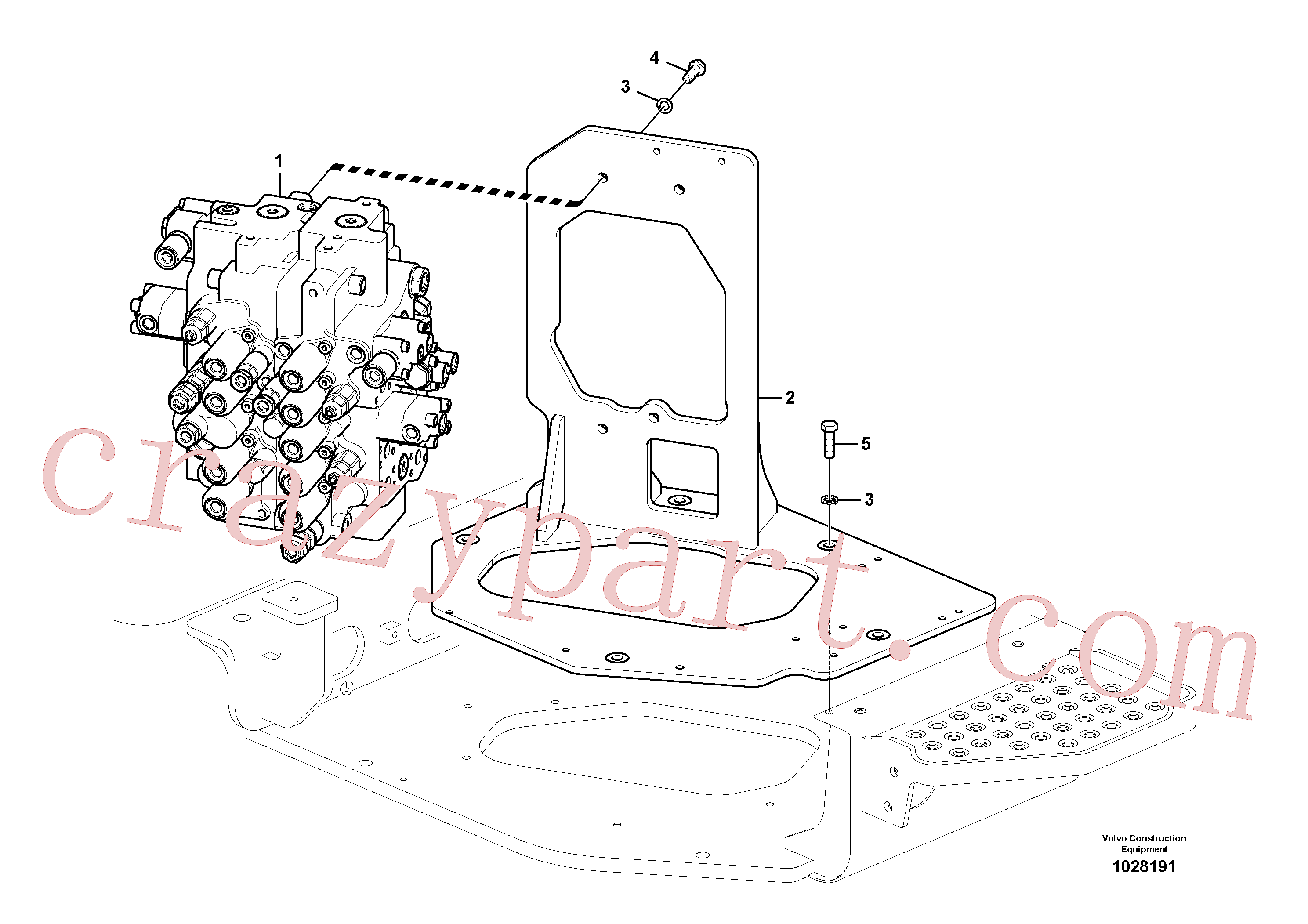 SA9011-11207 for Volvo Control valve with fitting parts.(1028191 assembly)