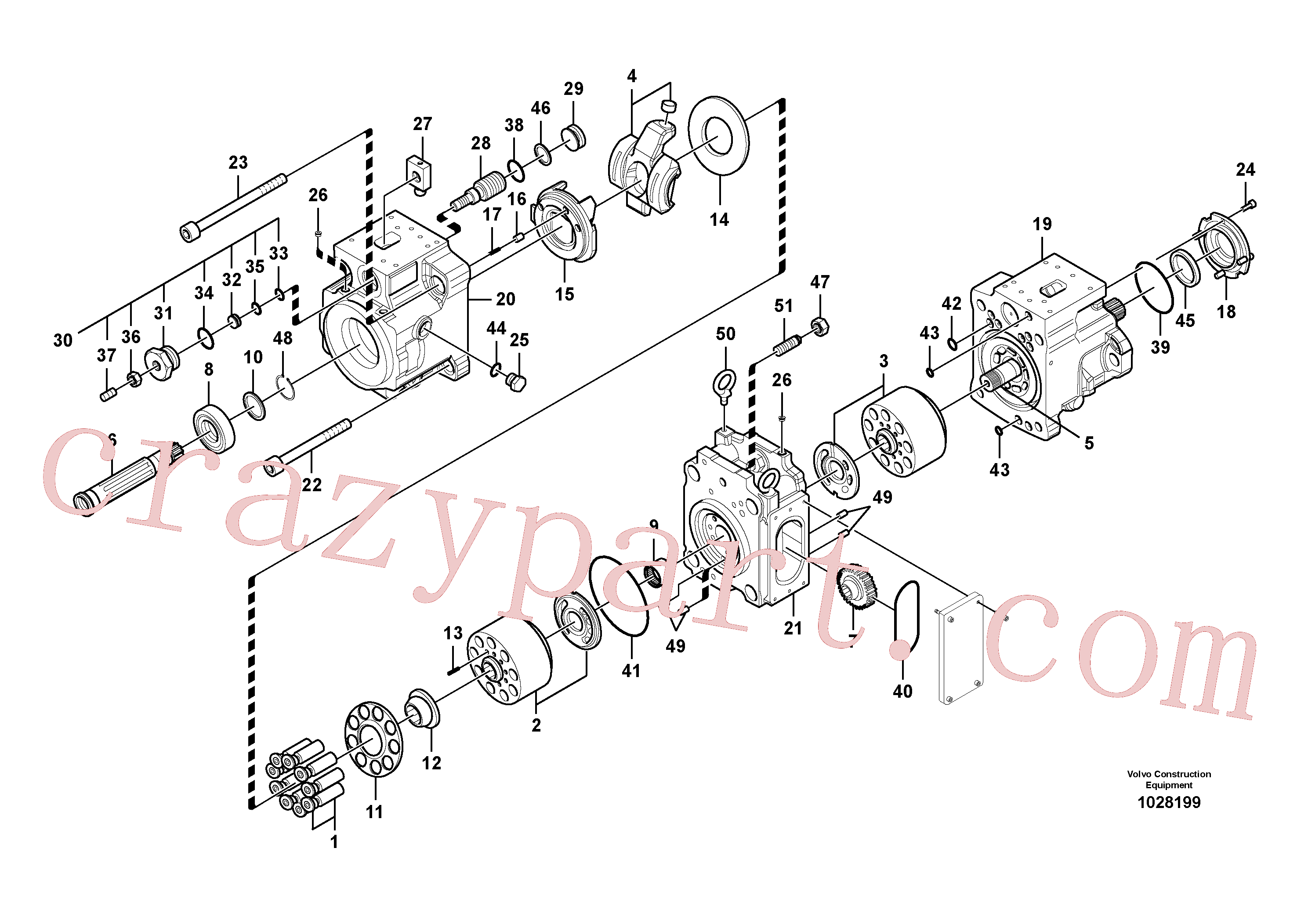 VOE14567617 for Volvo Hydraulic pump(1028199 assembly)