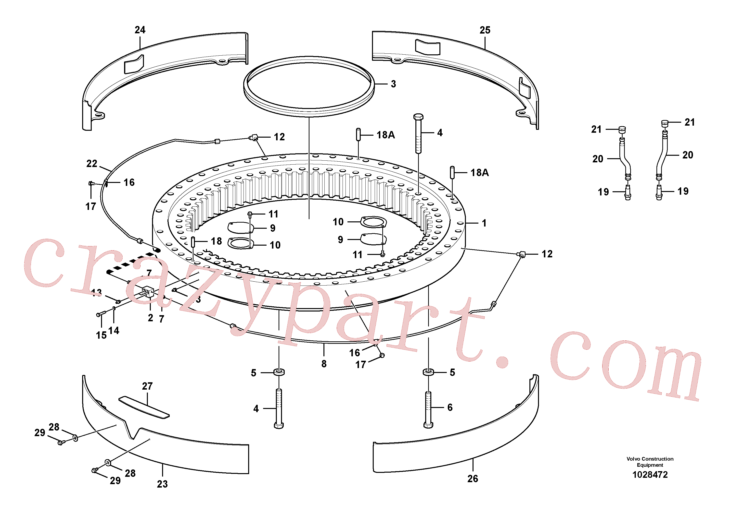 VOE14557302 for Volvo Swing system(1028472 assembly)