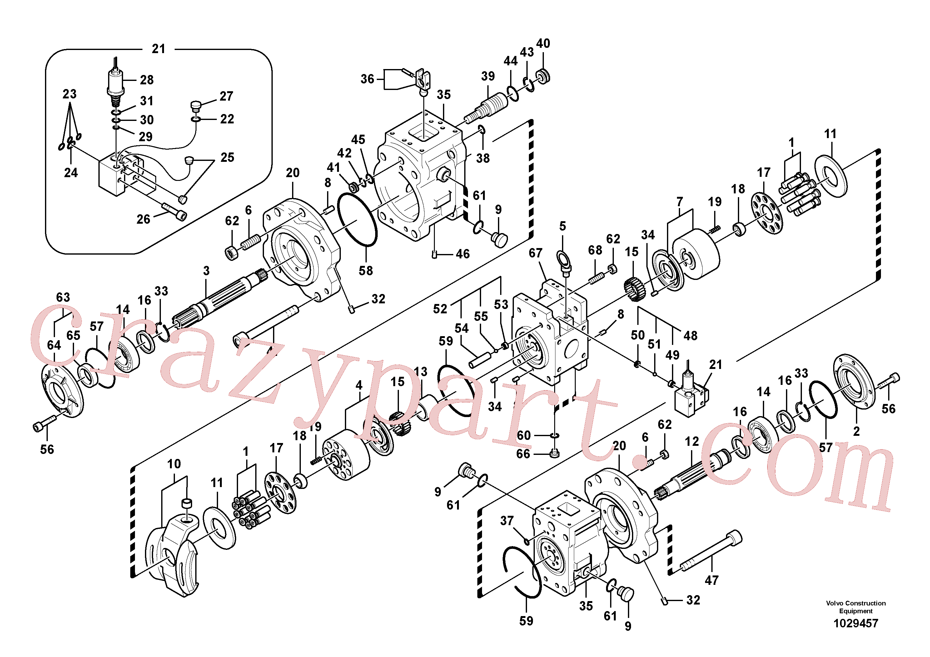 VOE14533608 for Volvo Hydraulic pump(1029457 assembly)