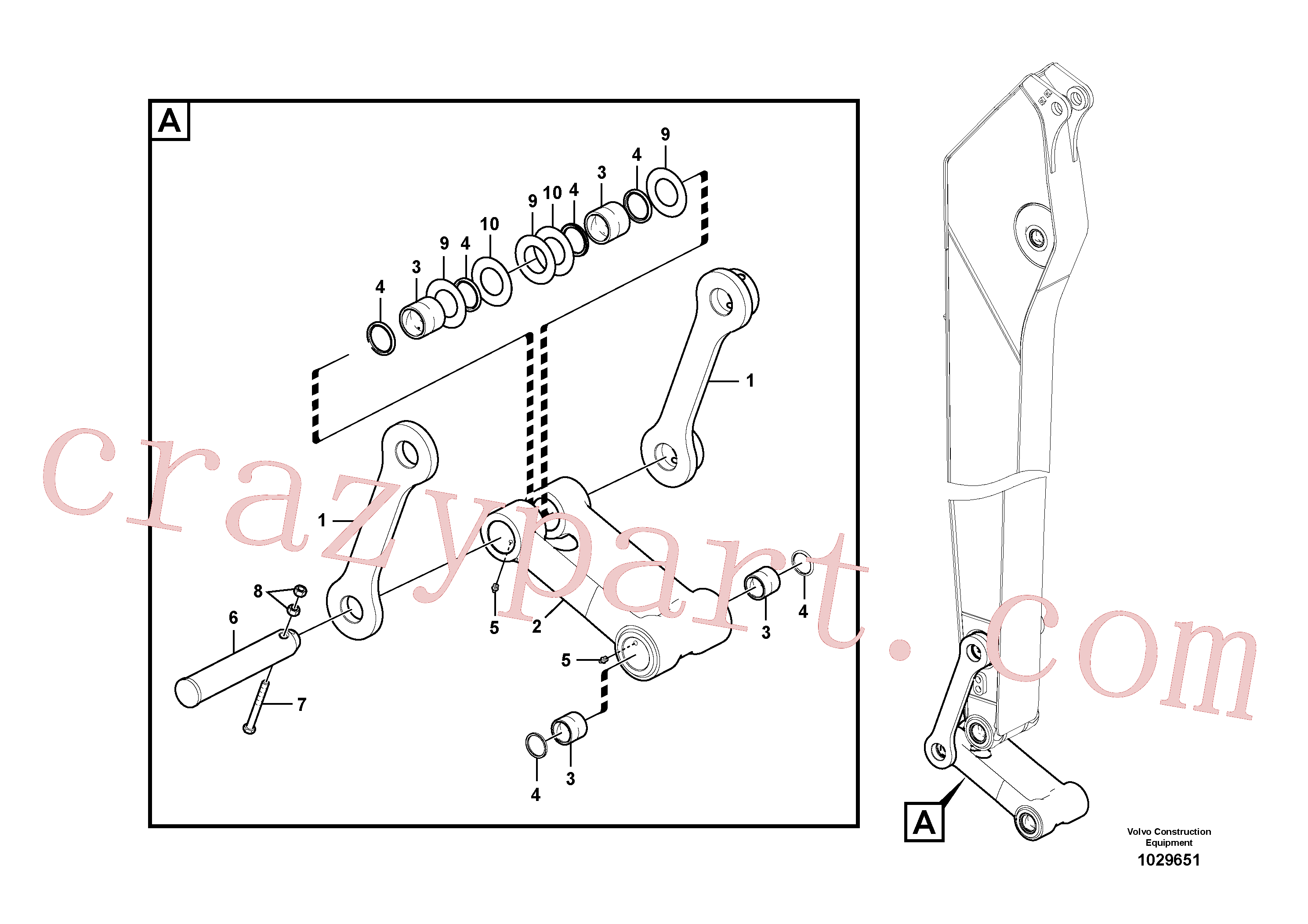 VOE14550741 for Volvo Links to connecting rod(1029651 assembly)