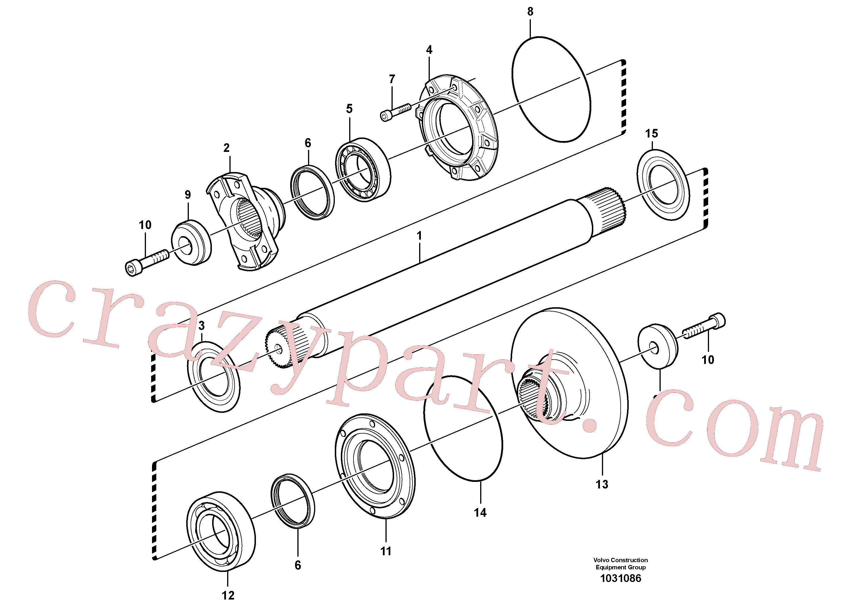 VOE11193687 for Volvo Intermediate shaft(1031086 assembly)