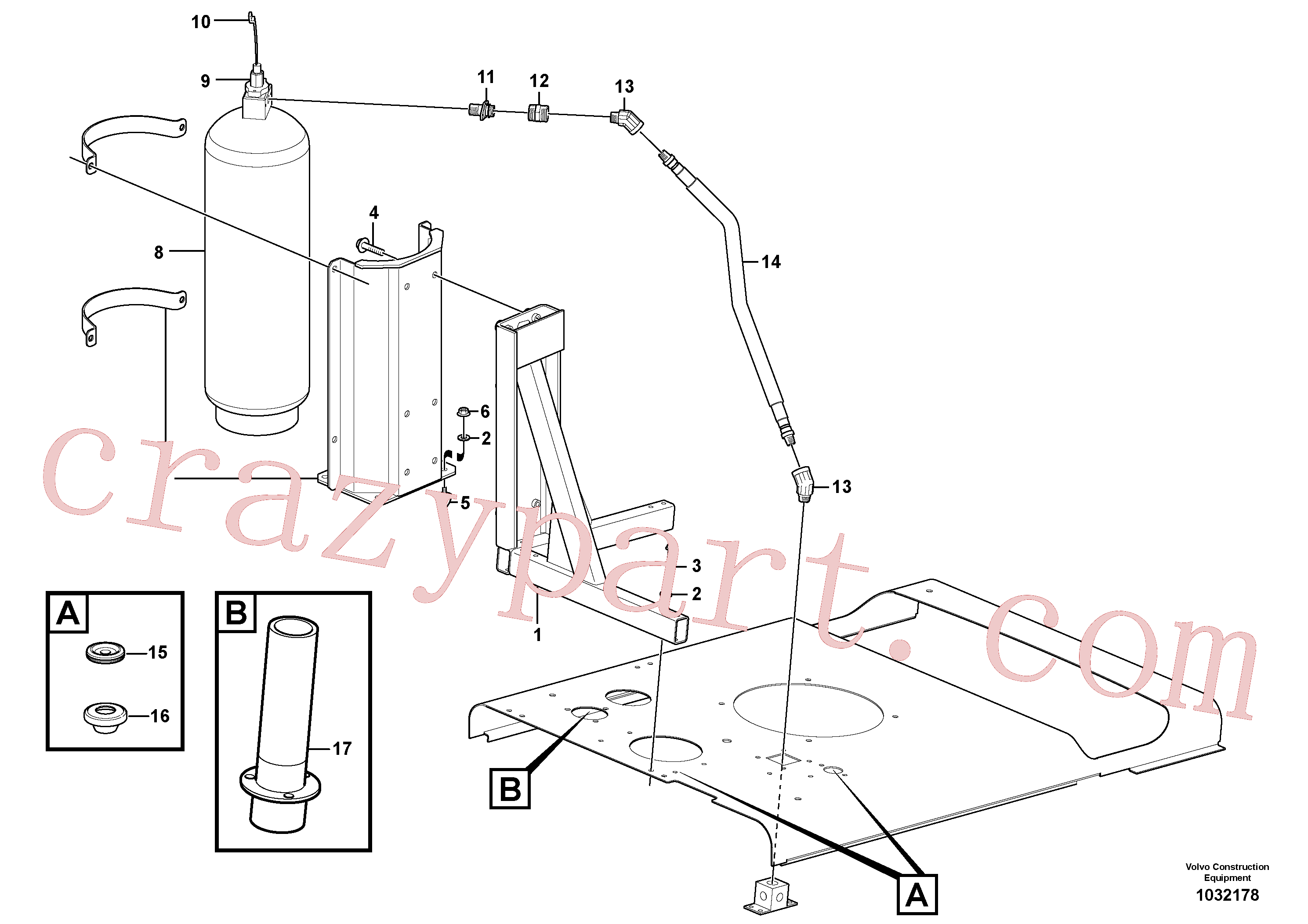 VOE11435346 for Volvo Fire suppression system(1032178 assembly)