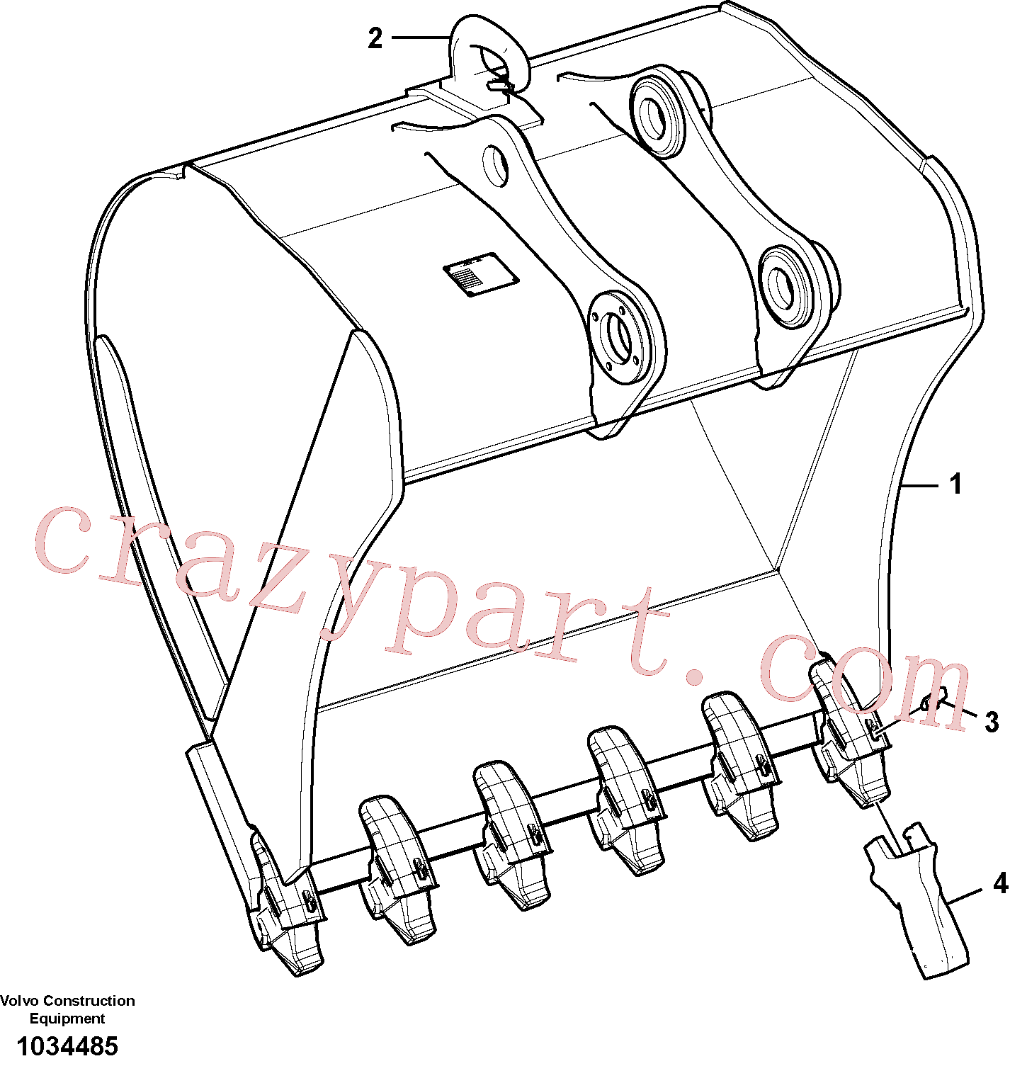 SA1171-89620 for Volvo Bucket(1034485 assembly)