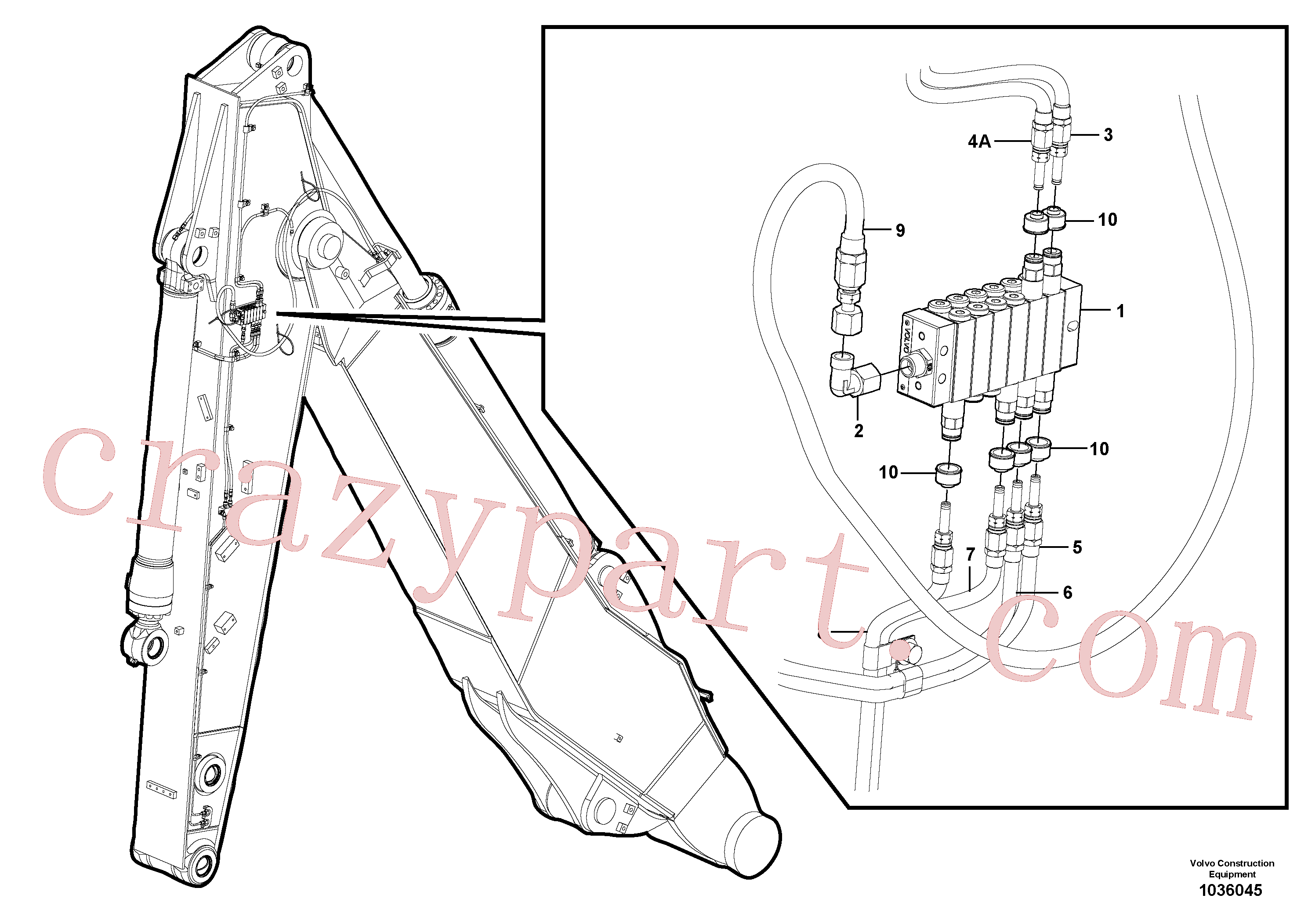 VOE14389578 for Volvo Distributor set, arm(1036045 assembly)