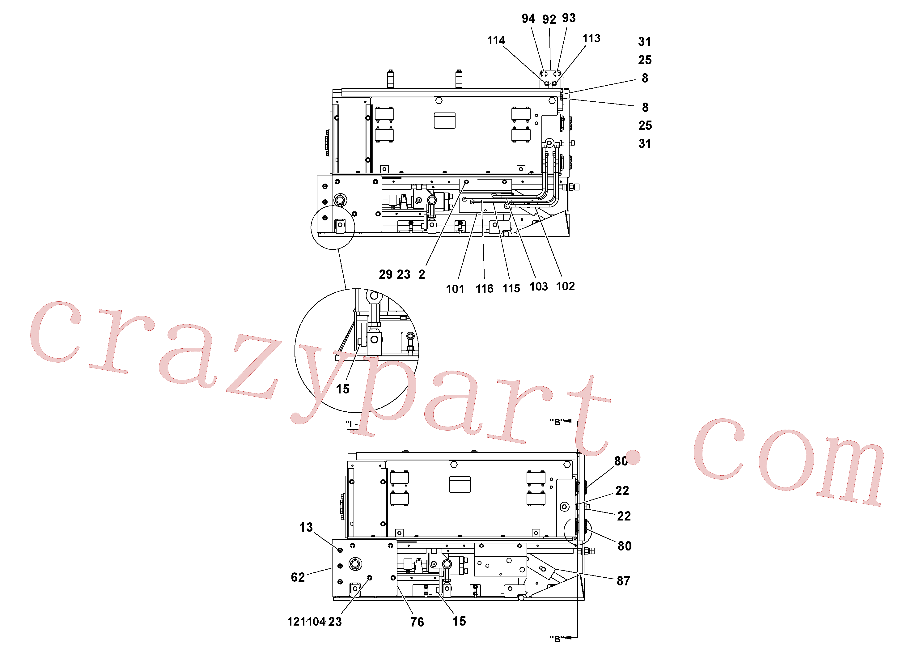 RM95922365 for Volvo 4' Extension Assembly(1036844 assembly)