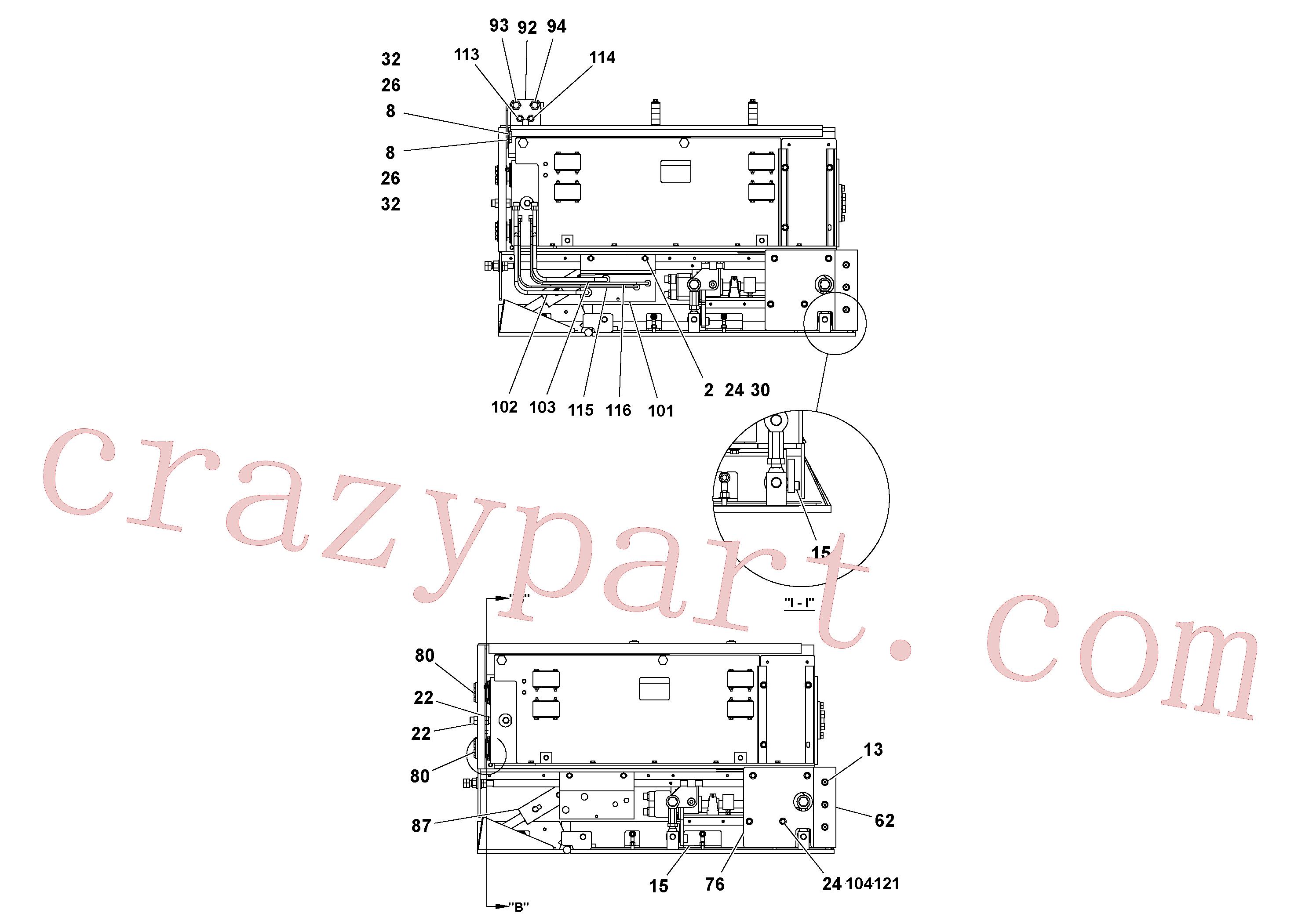RM95922365 for Volvo 4' Extension Assembly(1036856 assembly)