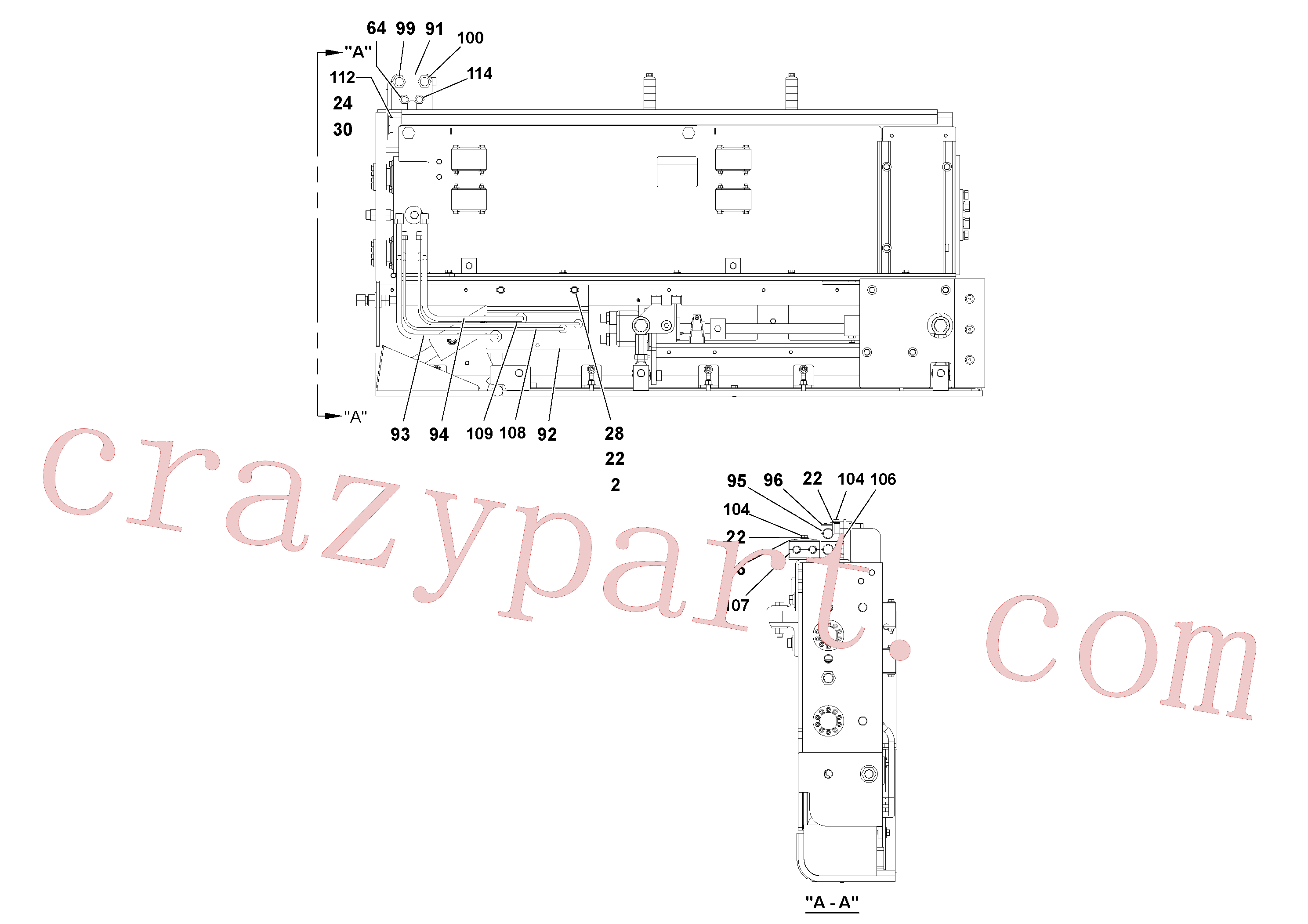 RM95922365 for Volvo 5' Extension Assembly(1036883 assembly)