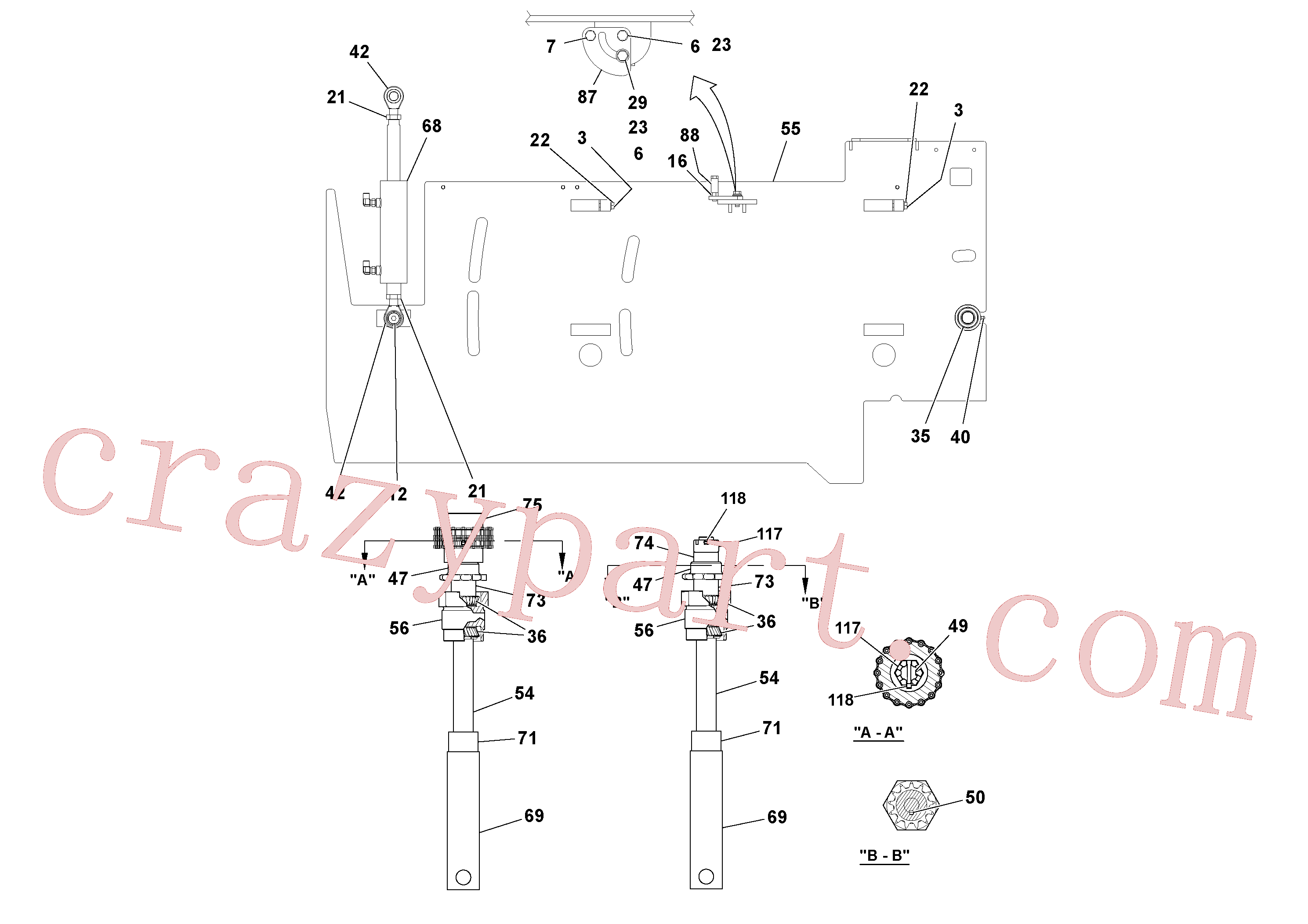 RM20313524 for Volvo 5' Extension Assembly(1036884 assembly)