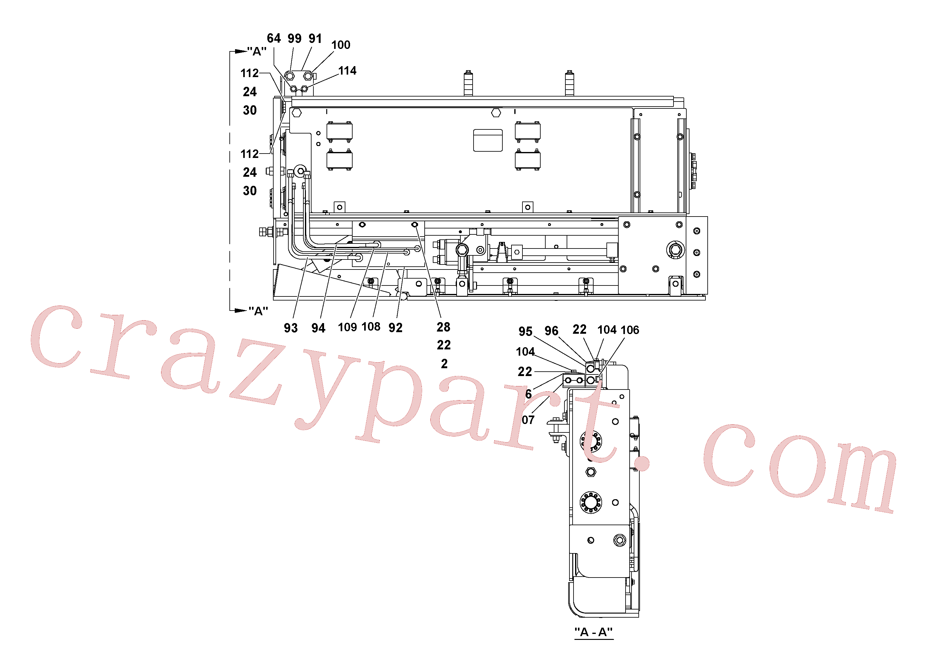 RM95922365 for Volvo 5' Extension Assembly(1036981 assembly)