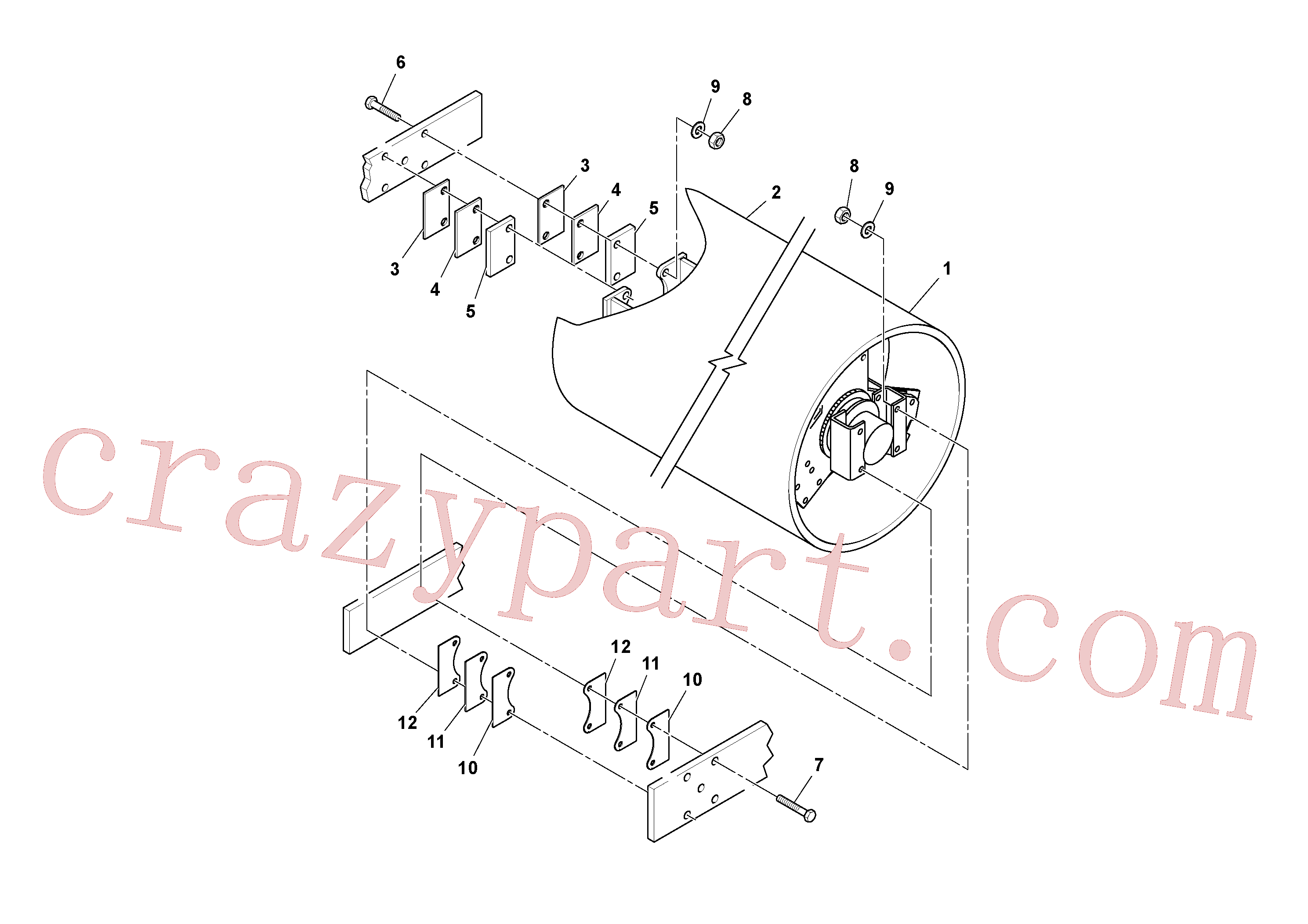 RM96715578 for Volvo Drum Installation(1038345 assembly)