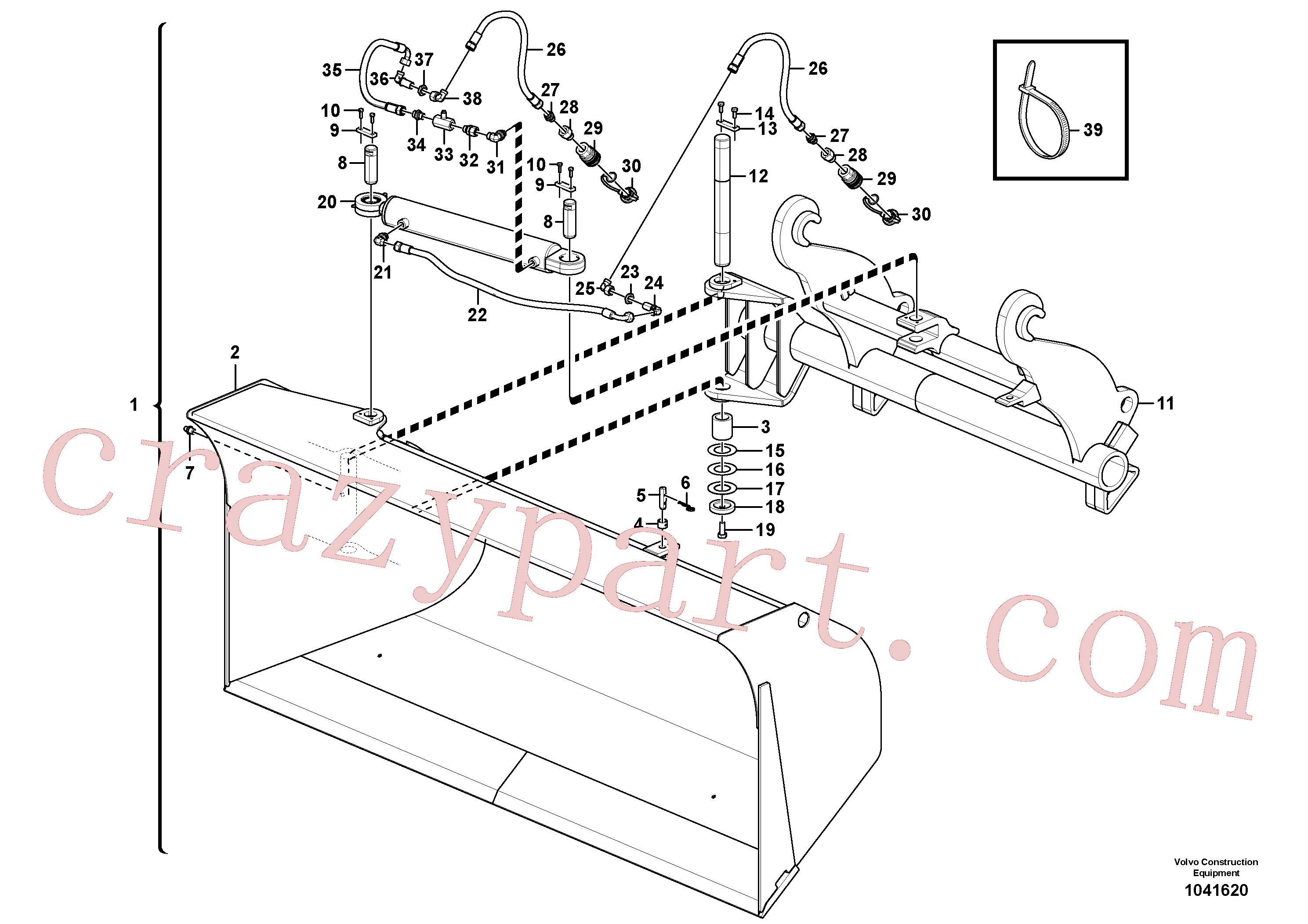 ZM4383338 for Volvo Side tip bucket(1041620 assembly)
