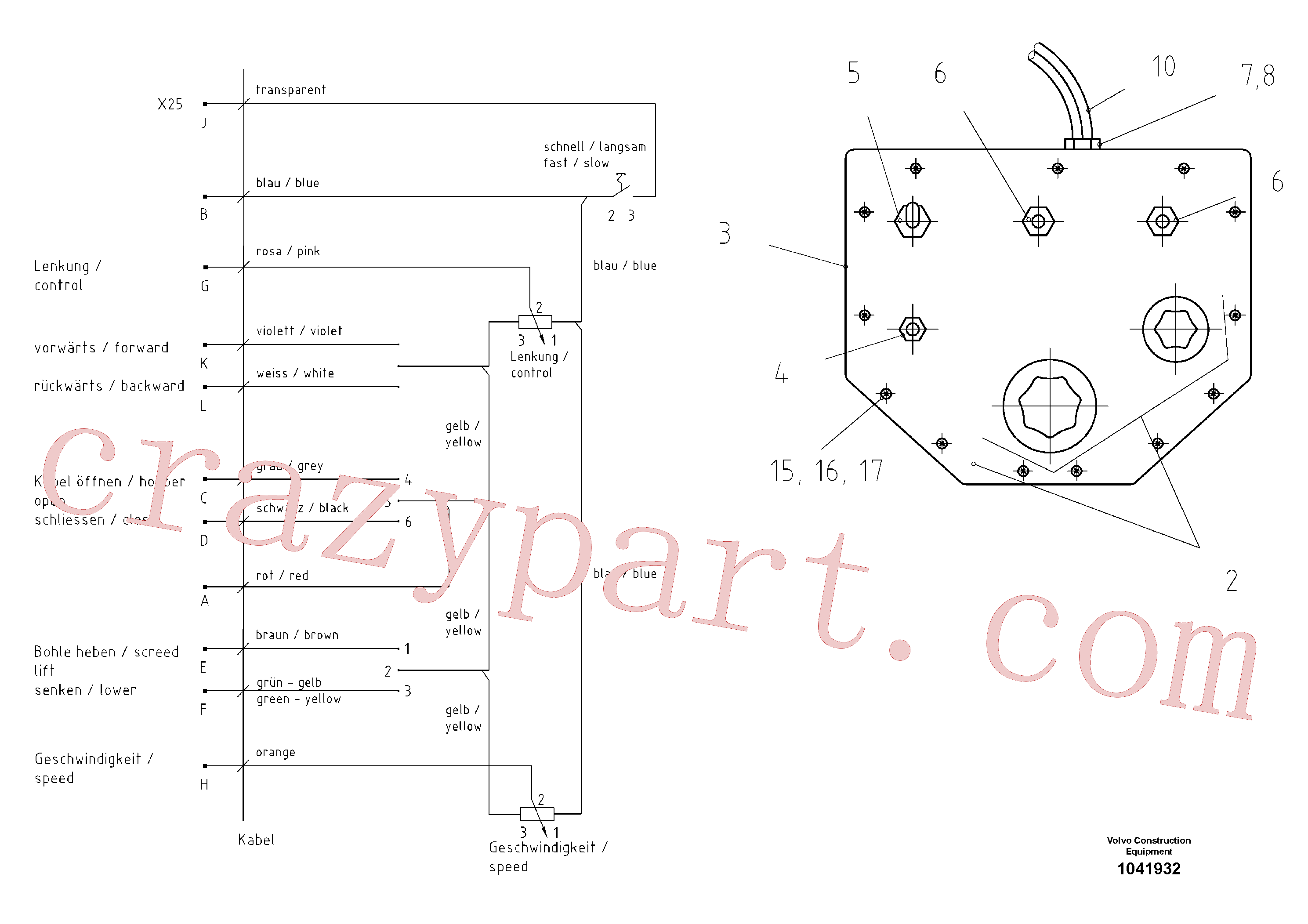 RM14106892 for Volvo Alternative Control Board(1041932 assembly)