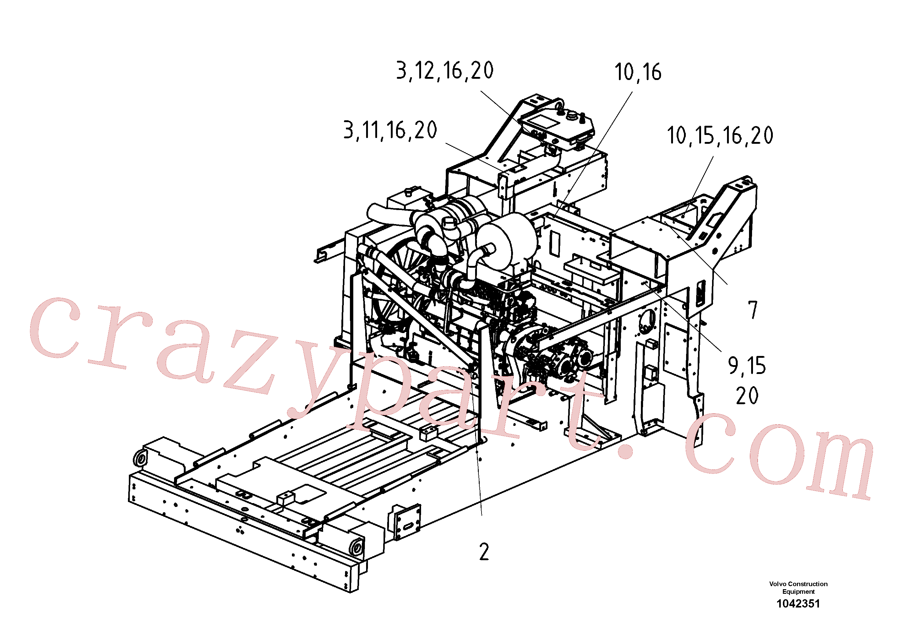 RM13943014 for Volvo Mounting Parts Electric(1042351 assembly)
