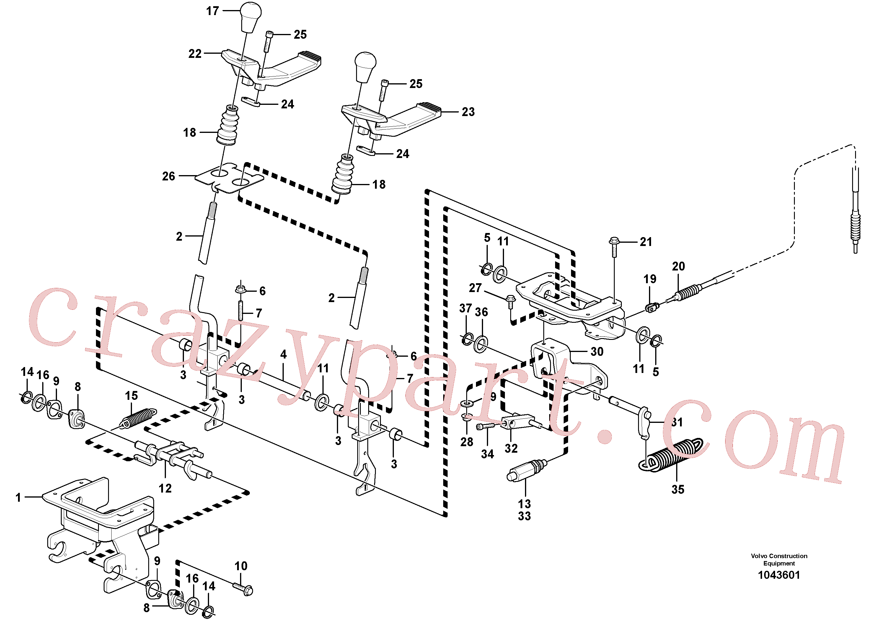 VOE14518918 for Volvo Control levers : travelling(1043601 assembly)
