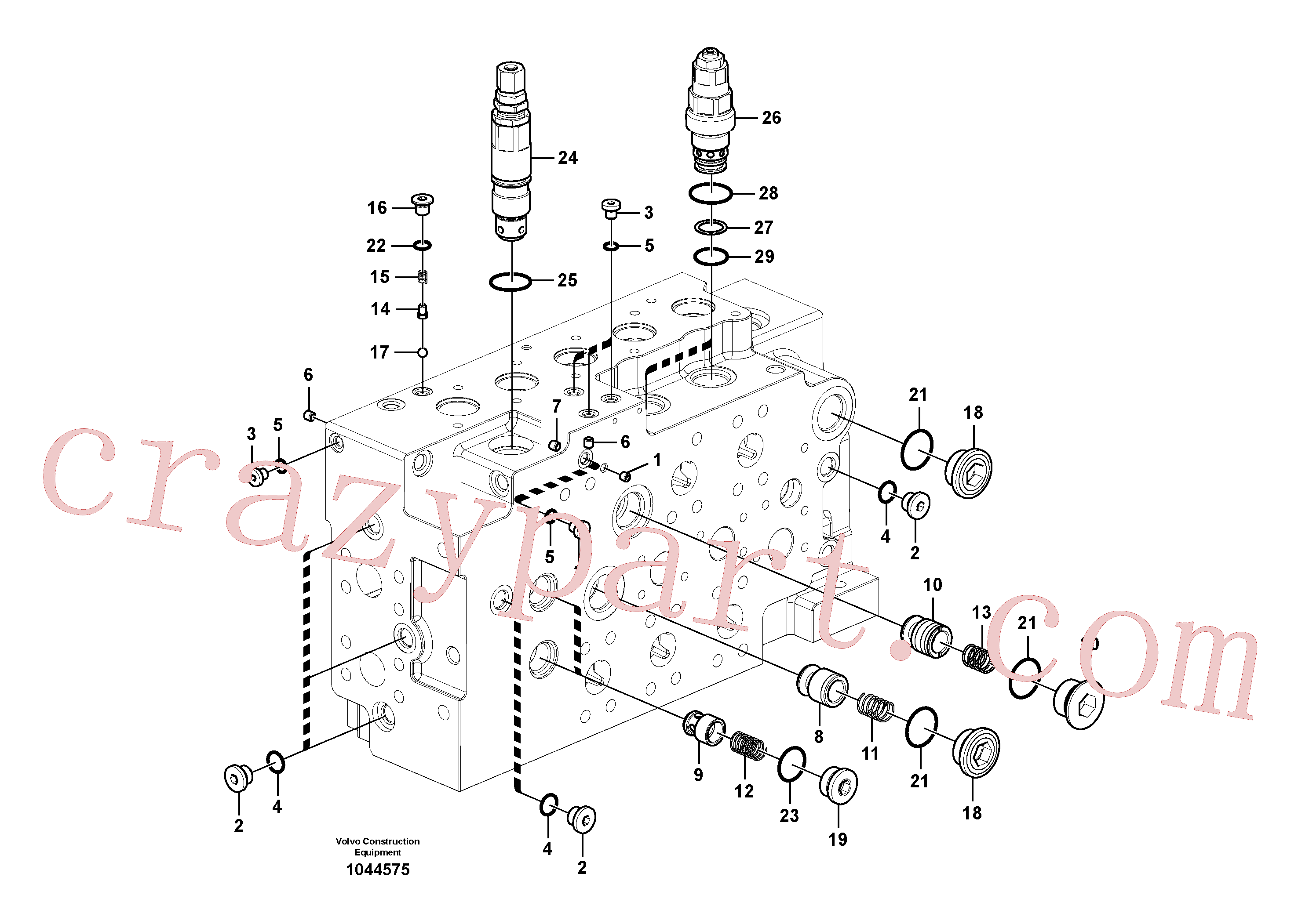 VOE14577735 for Volvo Main control valve(1044575 assembly)
