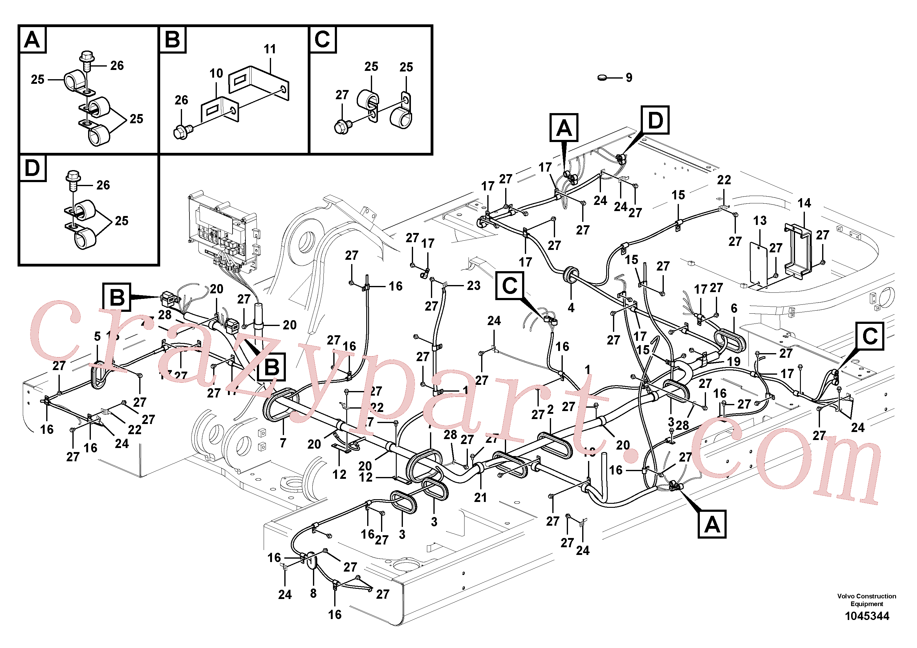 VOE14508690 for Volvo Cable and wire harness, main(1045344 assembly)