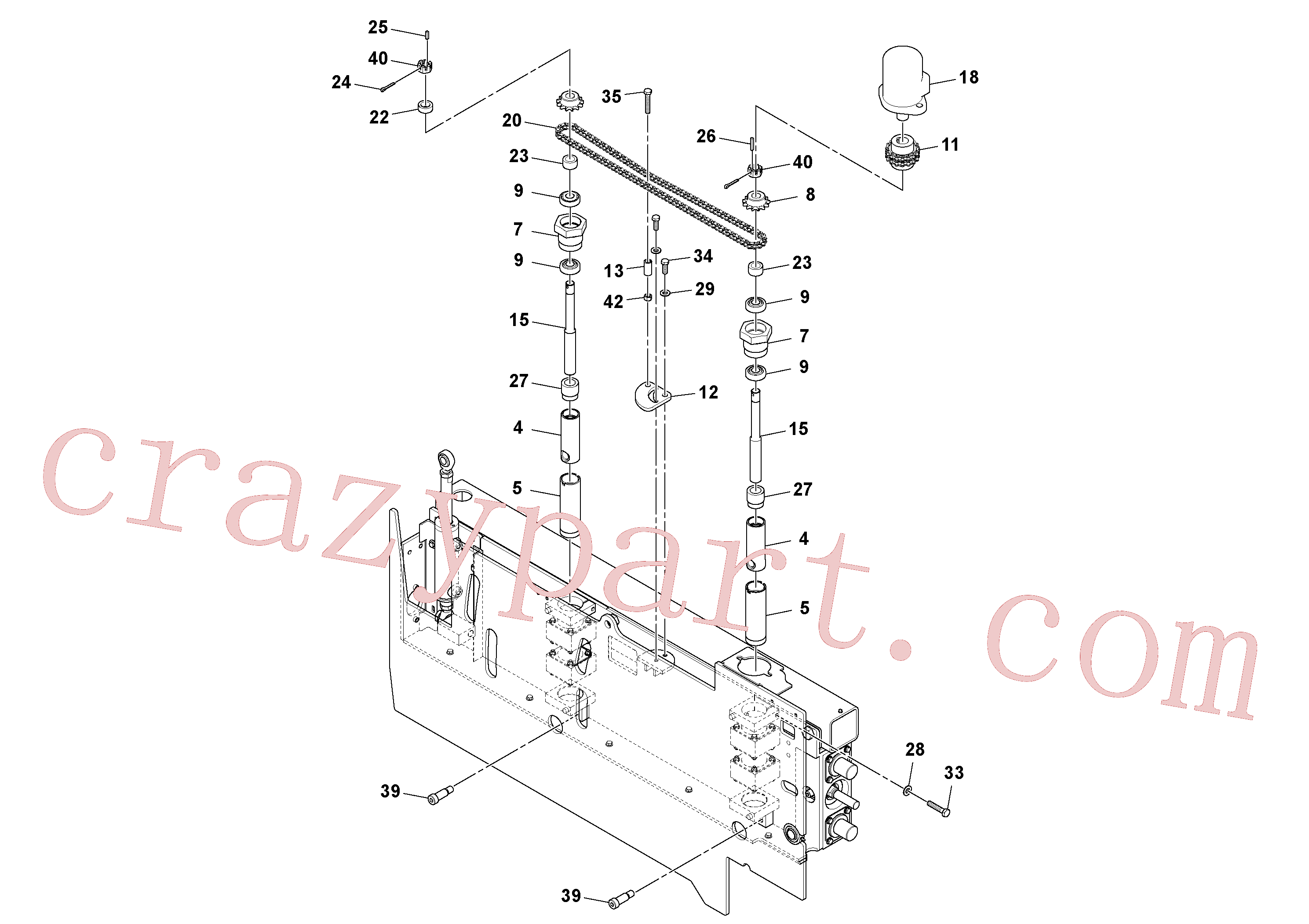 RM20313524 for Volvo Extension Assembly(1045978 assembly)