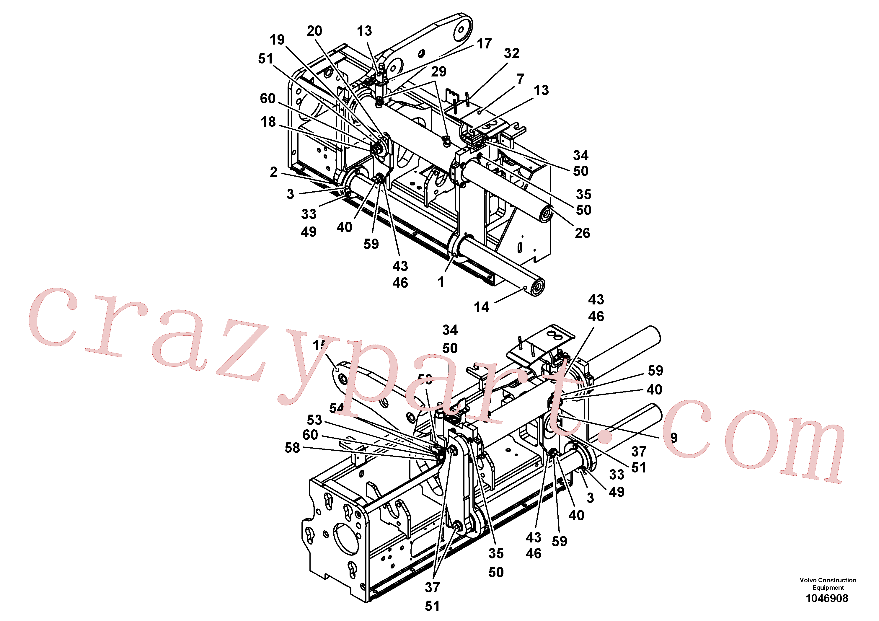 RM96724208 for Volvo Screed guide for extendable screed(1046908 assembly)