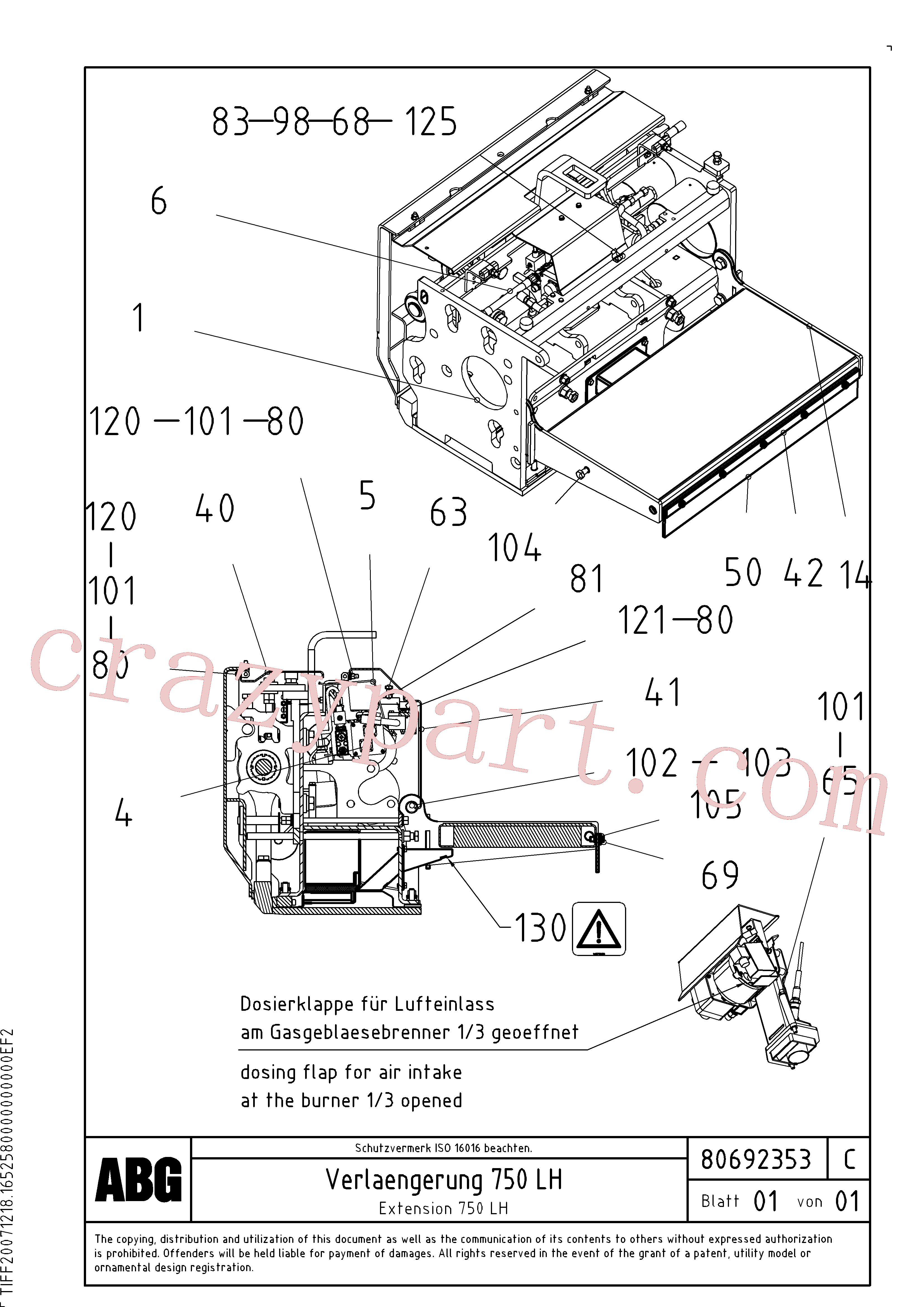 RM80765134 for Volvo Extension(1047133 assembly)