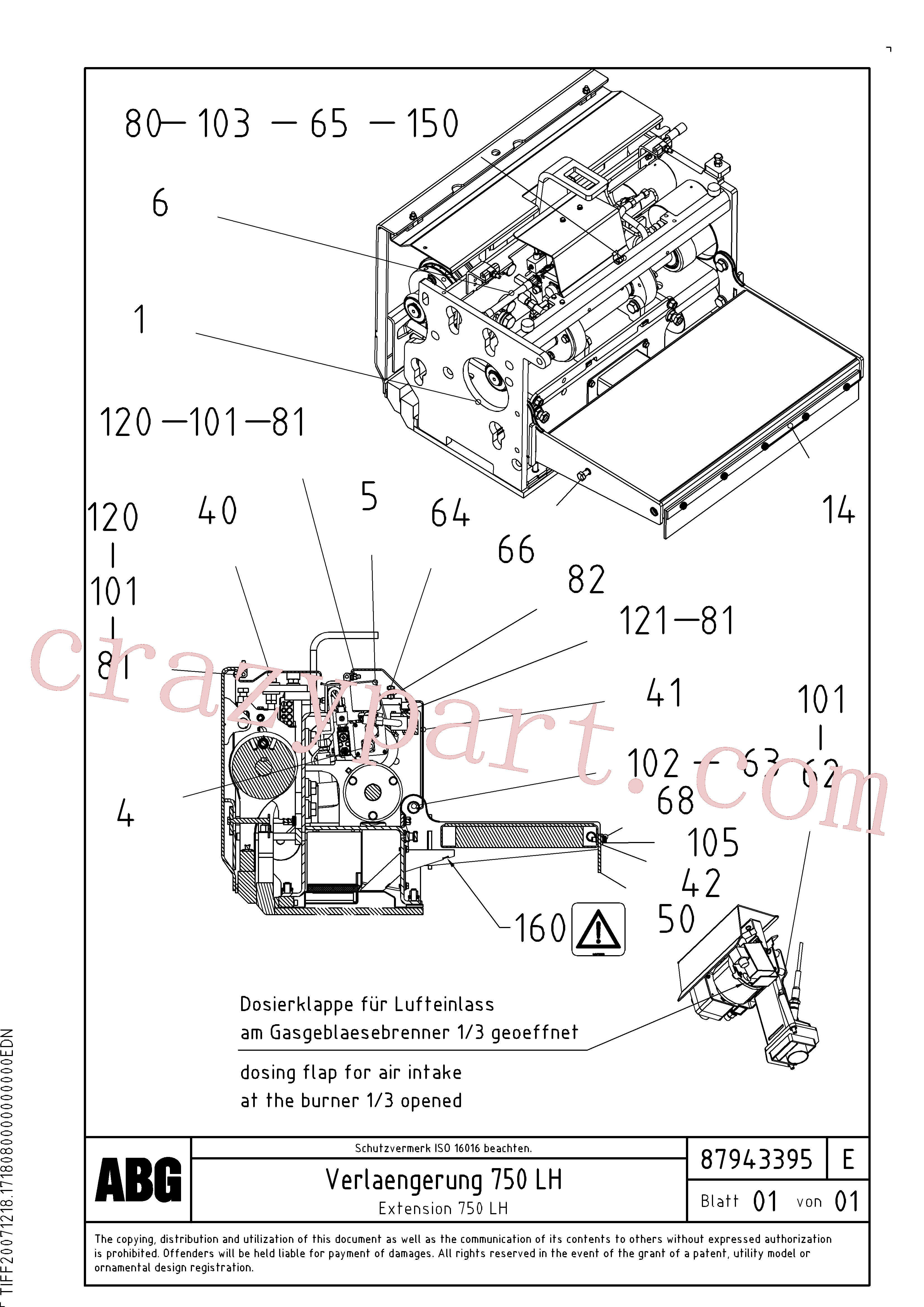 RM80765134 for Volvo Extension, Extension screed(1047977 assembly)