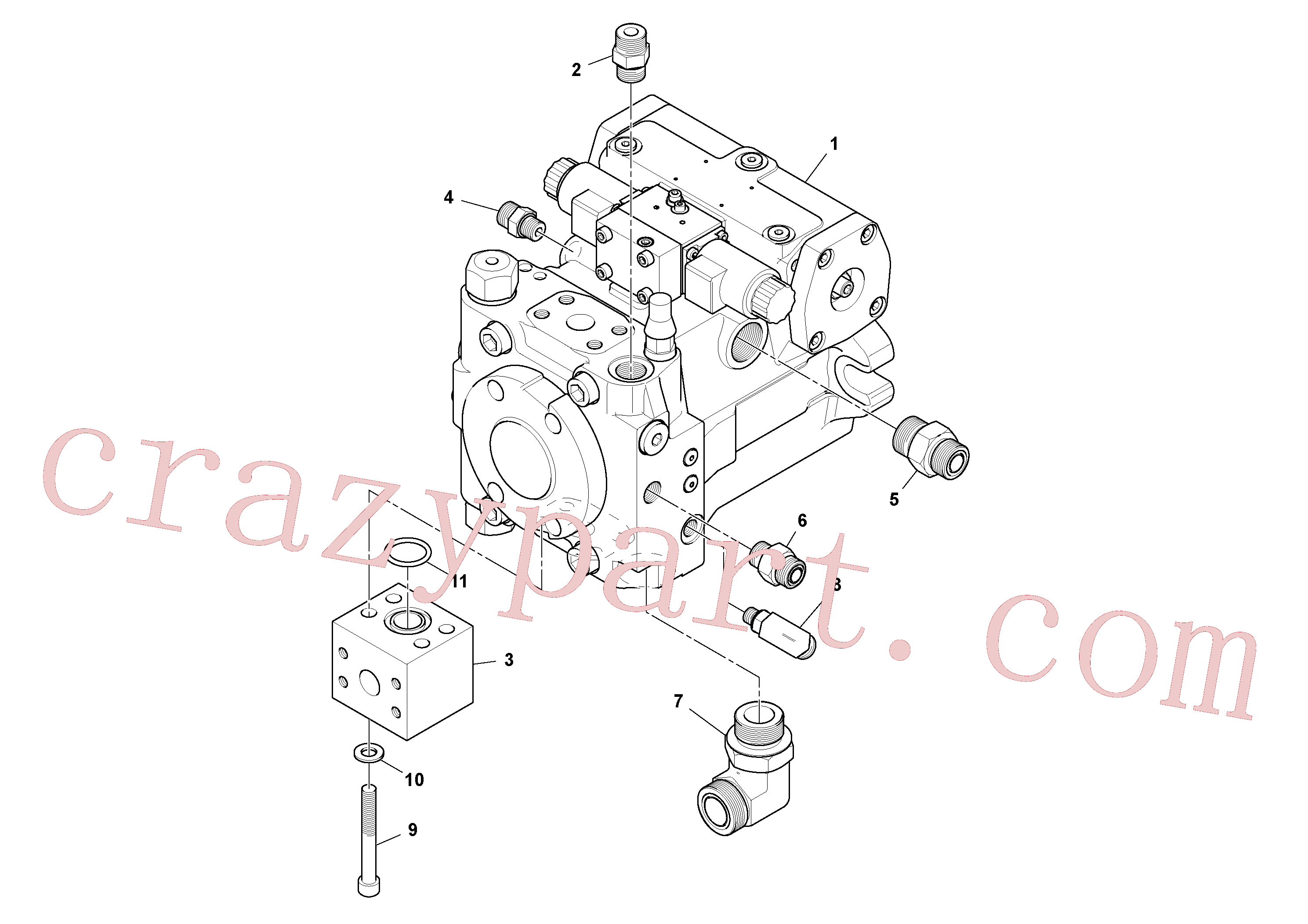 RM59919670 for Volvo Propulsion Pump Assembly(1048406 assembly)