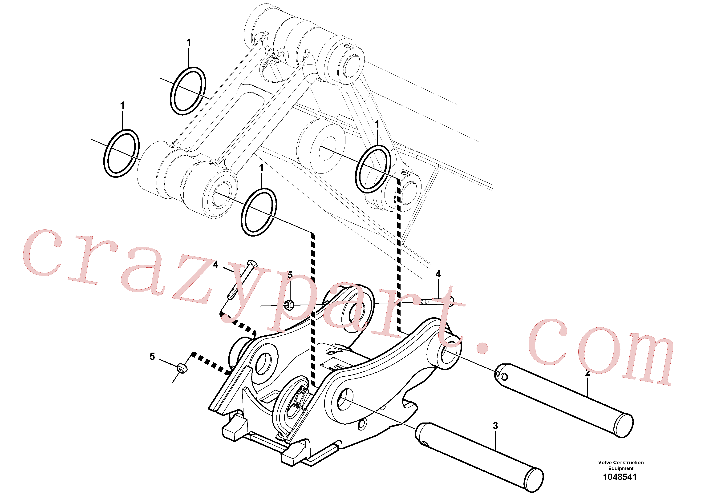 ZM4334202 for Volvo Quickfit, hydraulic(1048541 assembly)